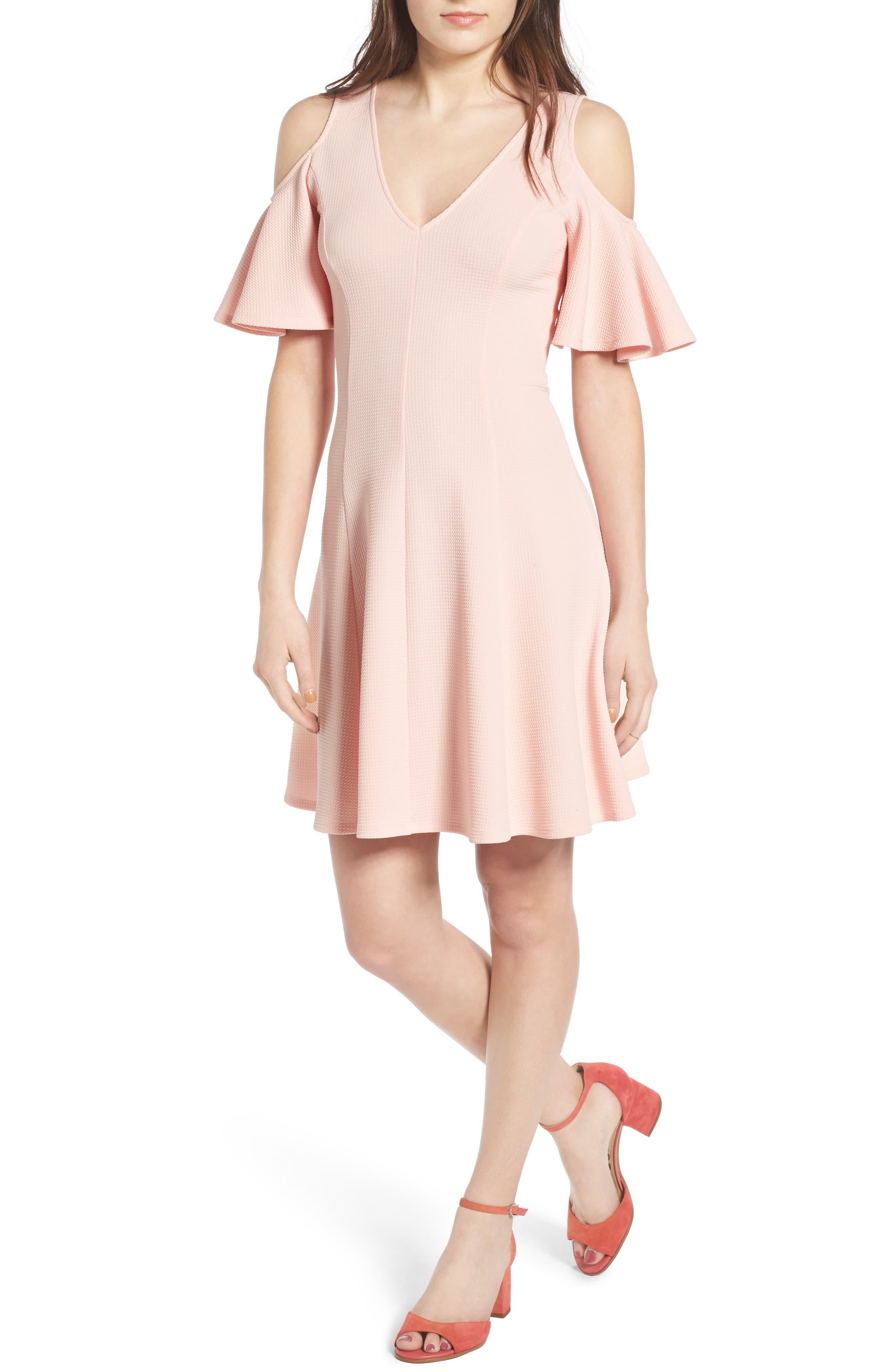 Cold Shoulder Dress,                             Main thumbnail 1, color,                             650