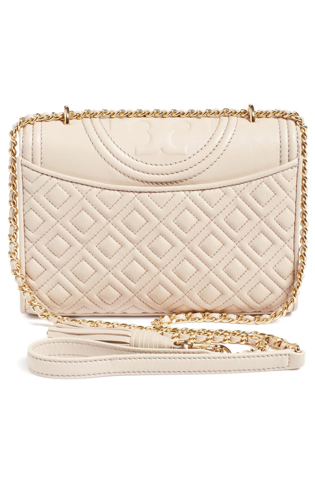 'Small Fleming' Quilted Leather Shoulder Bag,                             Alternate thumbnail 10, color,