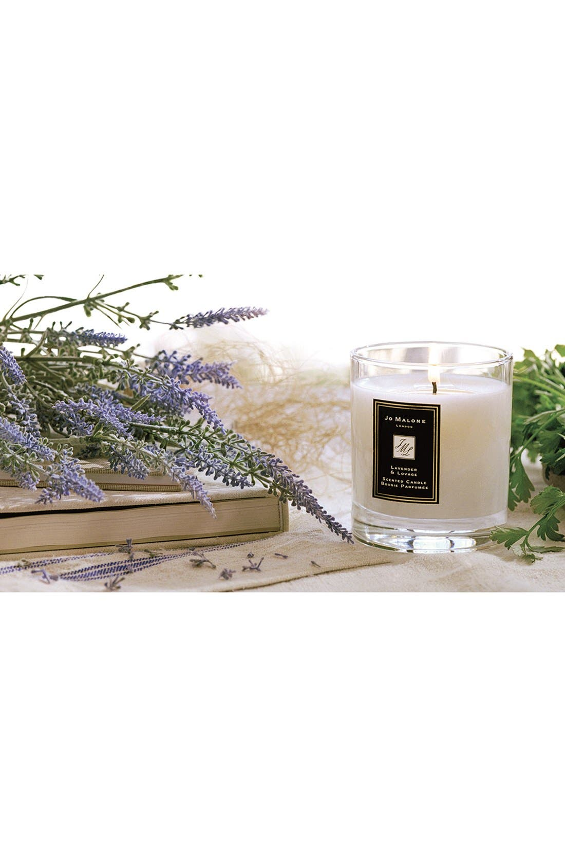 Jo Malone<sup>™</sup> Just Like Sunday - Lavender & Lovage Candle,                             Alternate thumbnail 4, color,                             NO COLOR