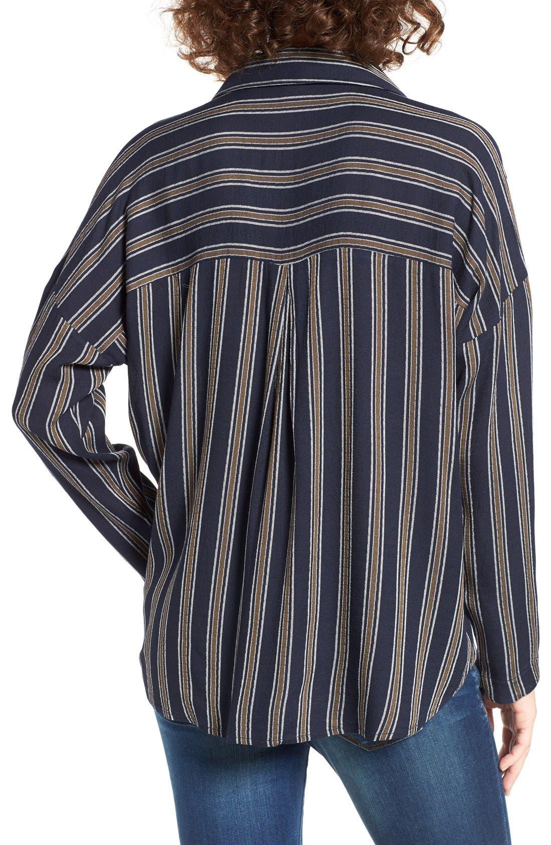 BP.,                             Stripe Button Front Shirt,                             Alternate thumbnail 7, color,                             410