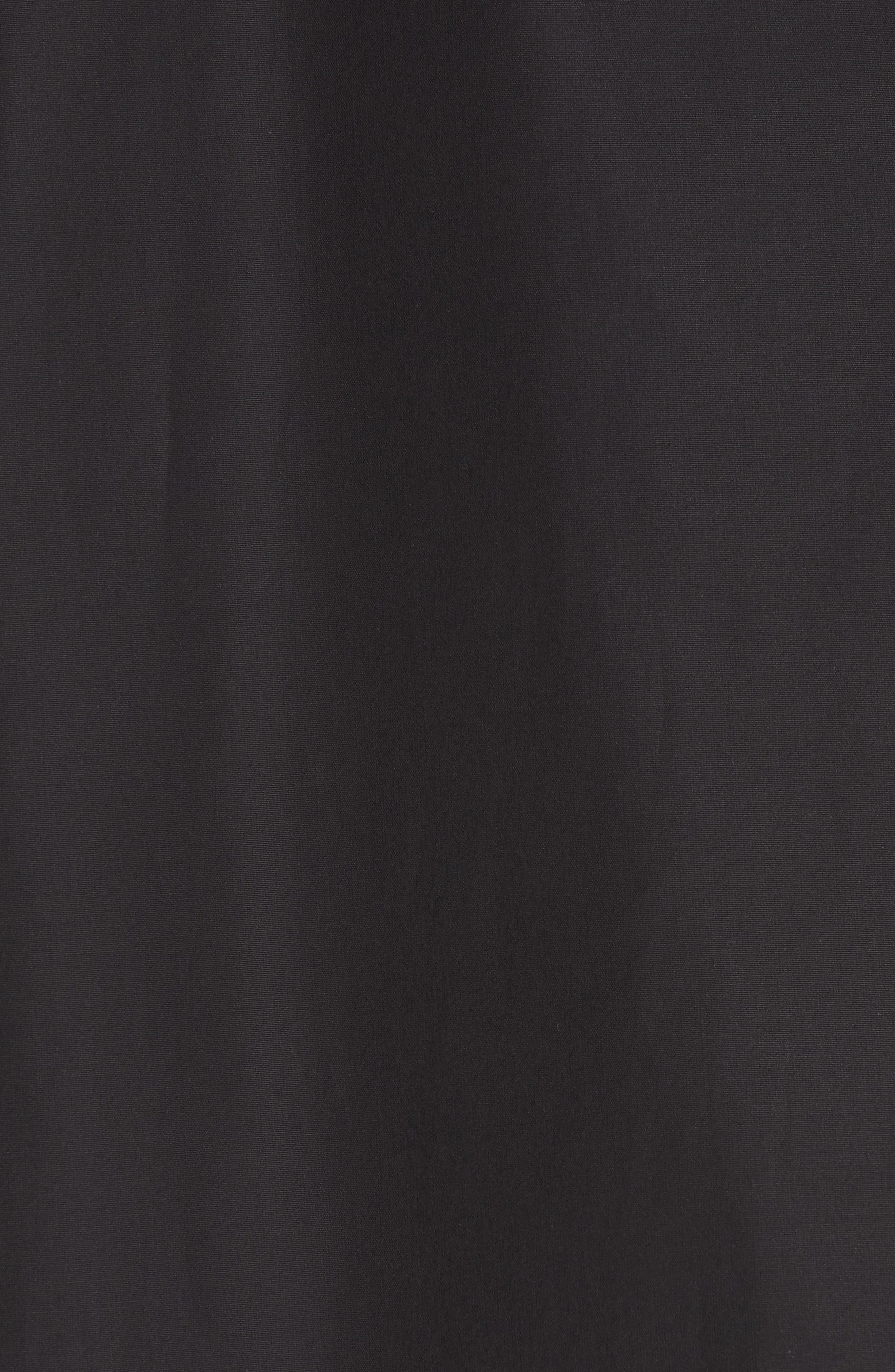 Eyelet Detail Cotton Dress,                             Alternate thumbnail 6, color,                             BLACK