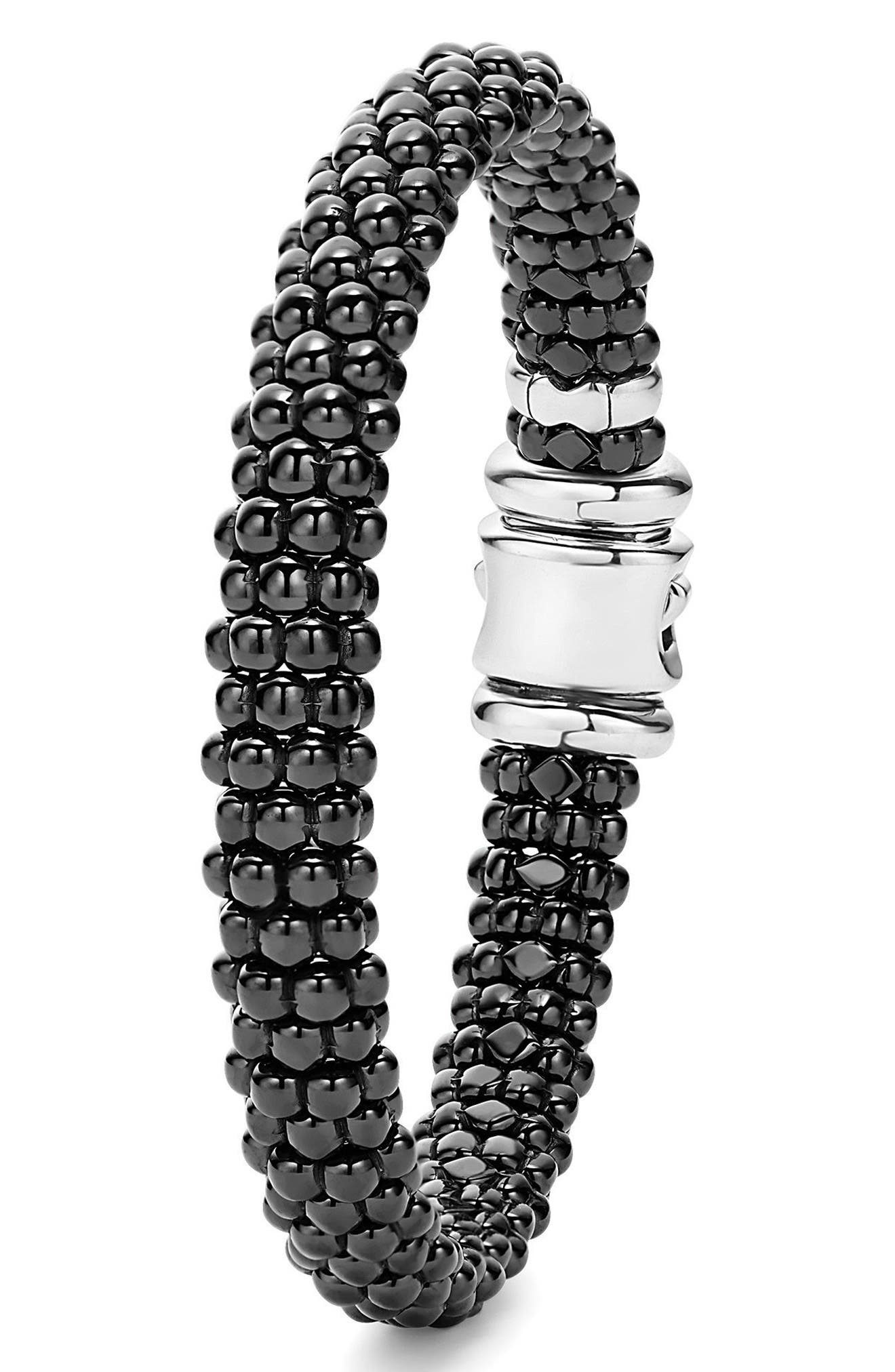 Black Caviar Bracelet,                             Alternate thumbnail 3, color,                             BLACK CAVIAR