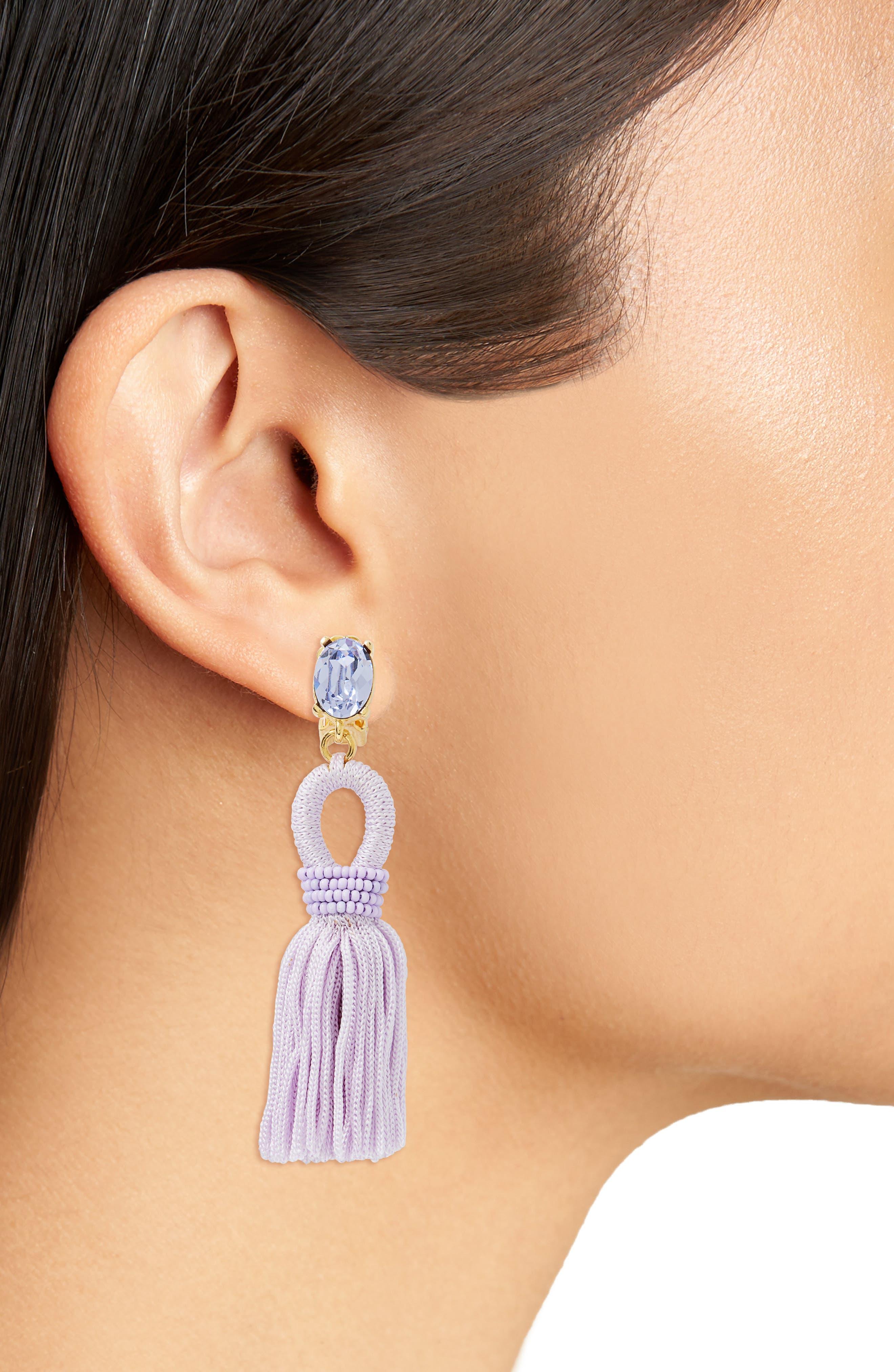 Silk Tassel Drop Earrings,                             Alternate thumbnail 14, color,