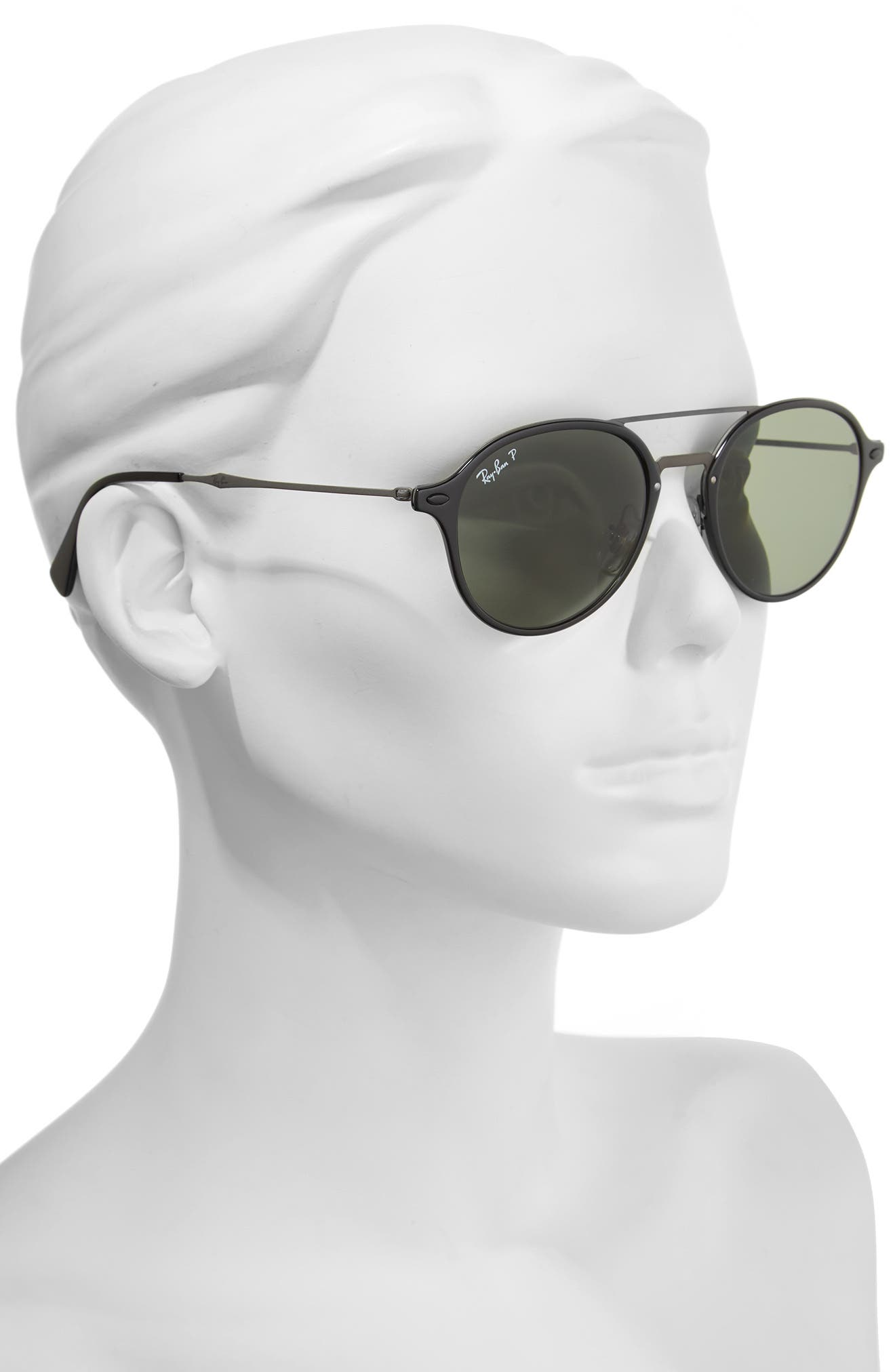 55mm Aviator Sunglasses,                             Alternate thumbnail 2, color,                             001