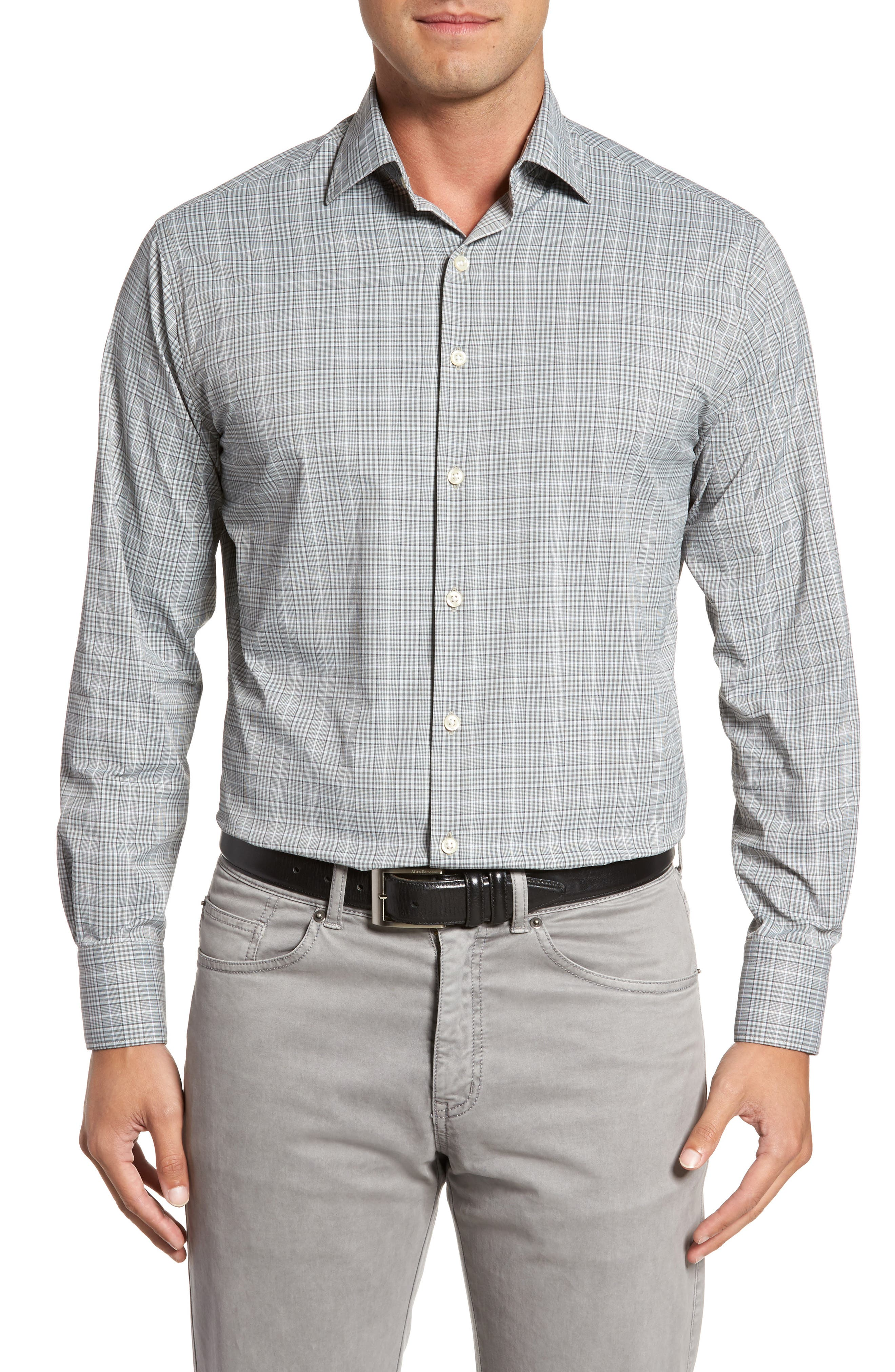 Vedder Gingham Regular Fit Performance Sport Shirt,                             Main thumbnail 1, color,                             025