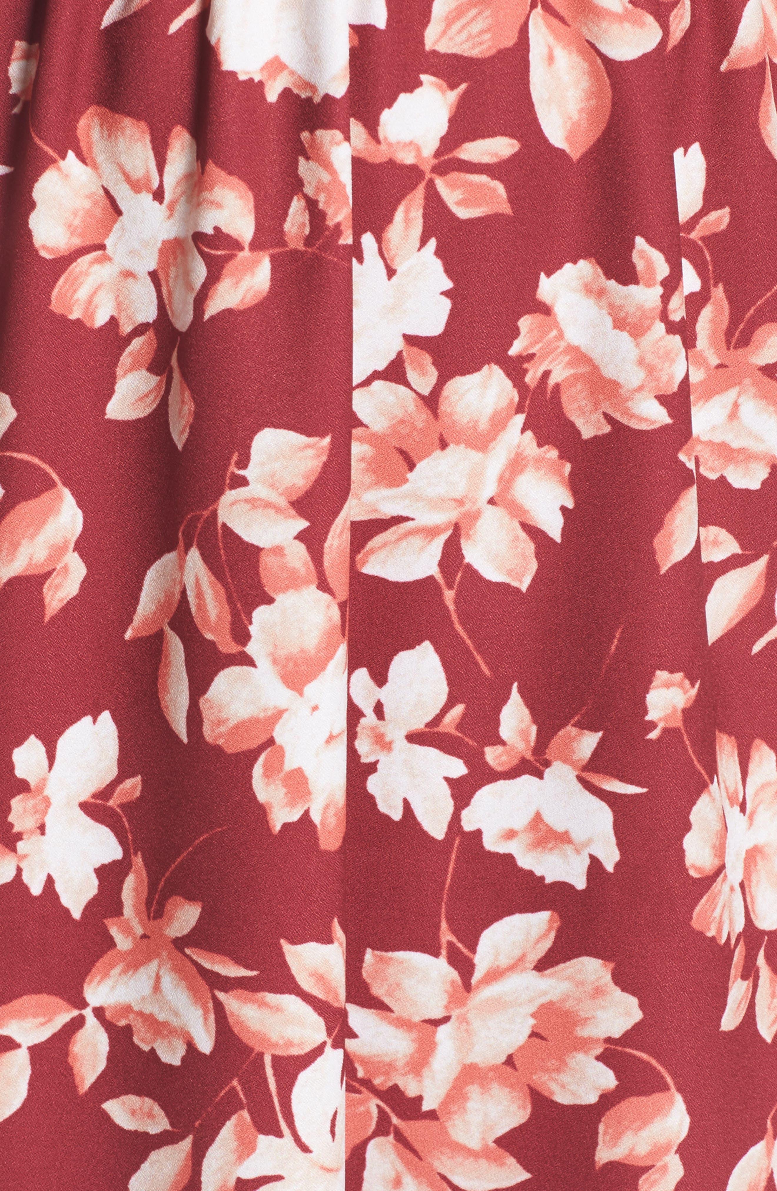Cold Shoulder Asymmetrical Maxi Dress,                             Alternate thumbnail 10, color,