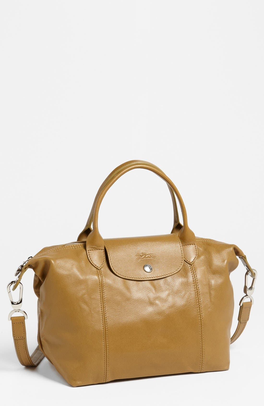 Small 'Le Pliage Cuir' Leather Top Handle Tote,                             Main thumbnail 26, color,