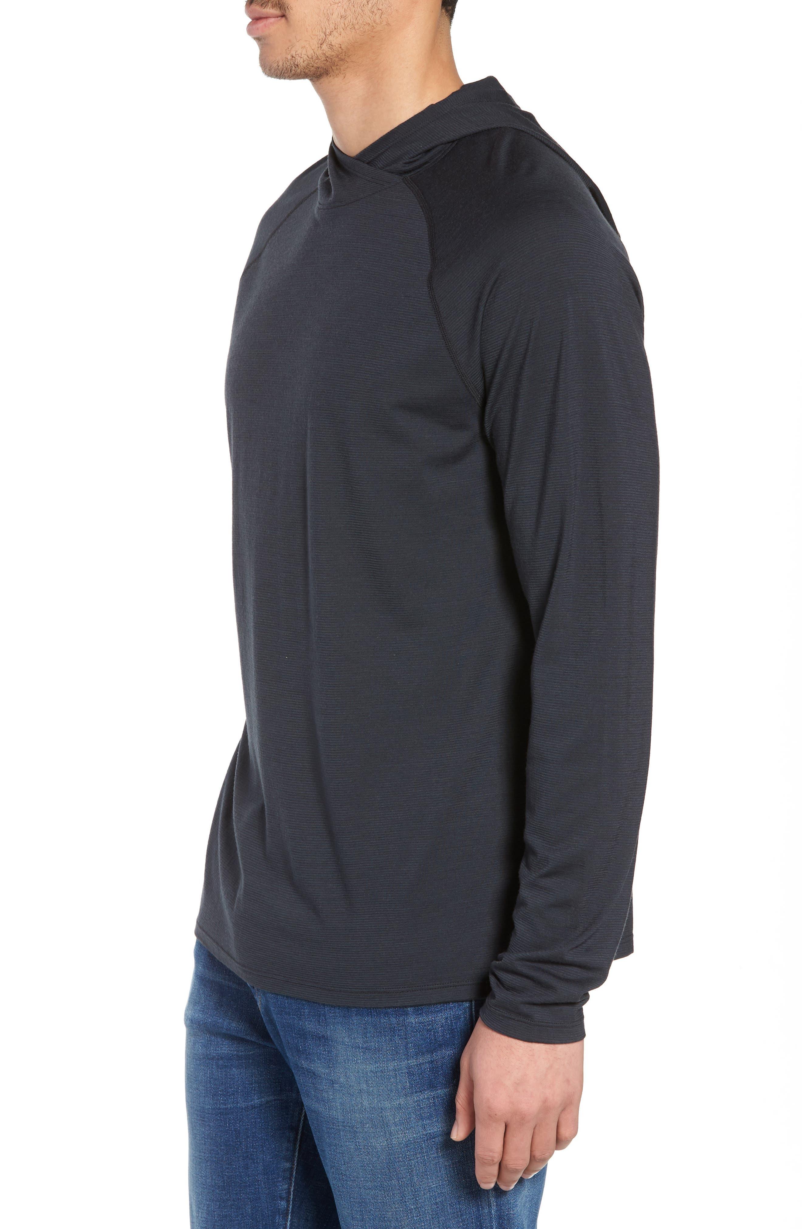 Merino 150 Wool Blend Hoodie,                             Alternate thumbnail 3, color,                             010