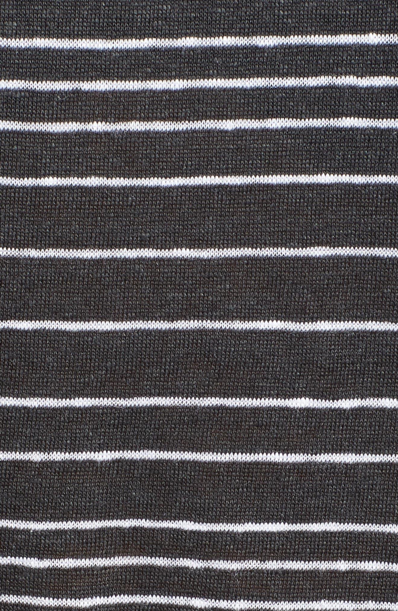 Stripe Organic Linen Top,                             Alternate thumbnail 6, color,                             025