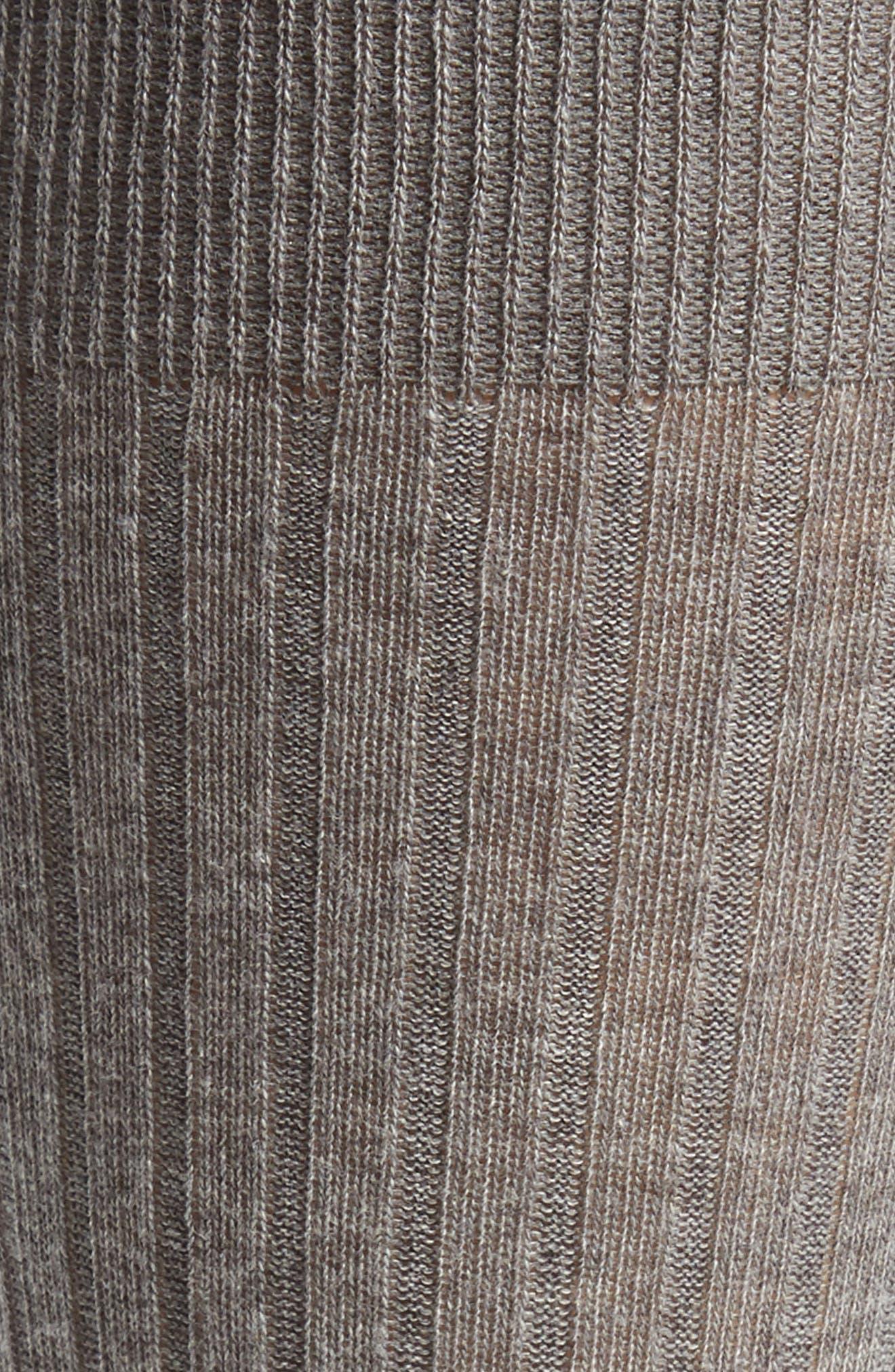 Ribbed Pima Cotton Crew Socks,                             Alternate thumbnail 2, color,                             GREY HEATHER
