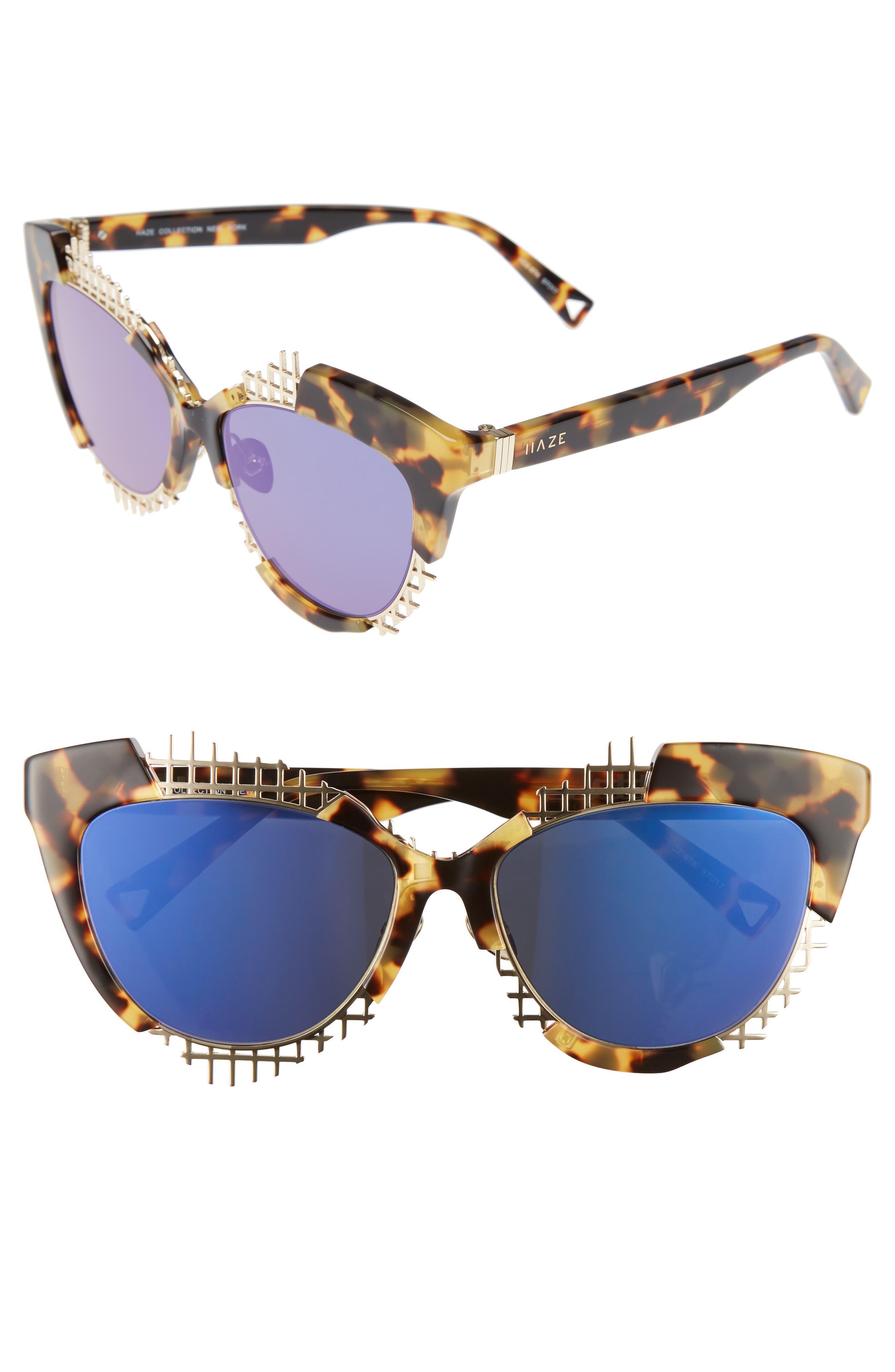 Voz 55mm Cat Eye Sunglasses,                             Main thumbnail 2, color,