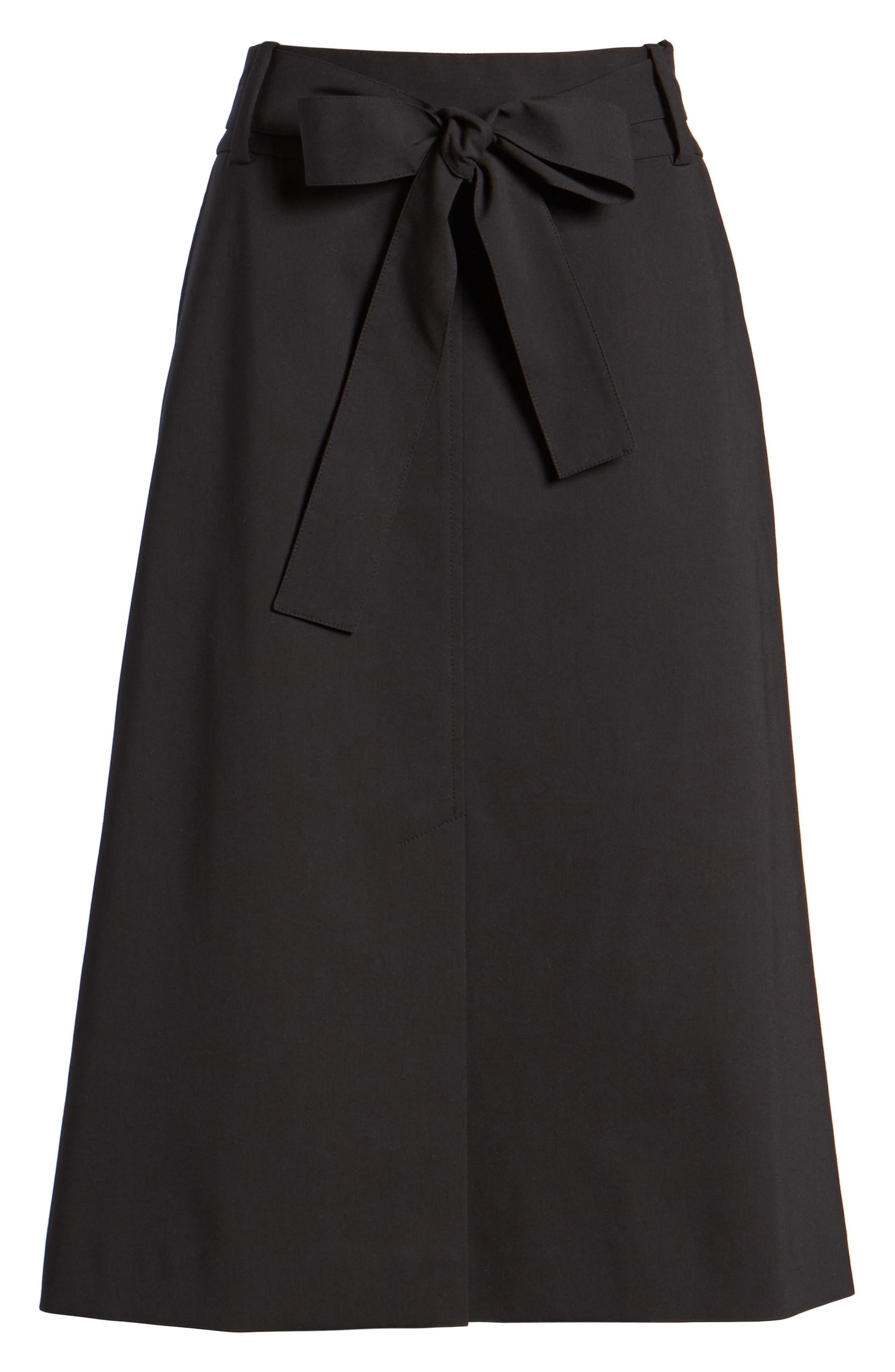 Tie Waist Skirt,                             Alternate thumbnail 6, color,                             001