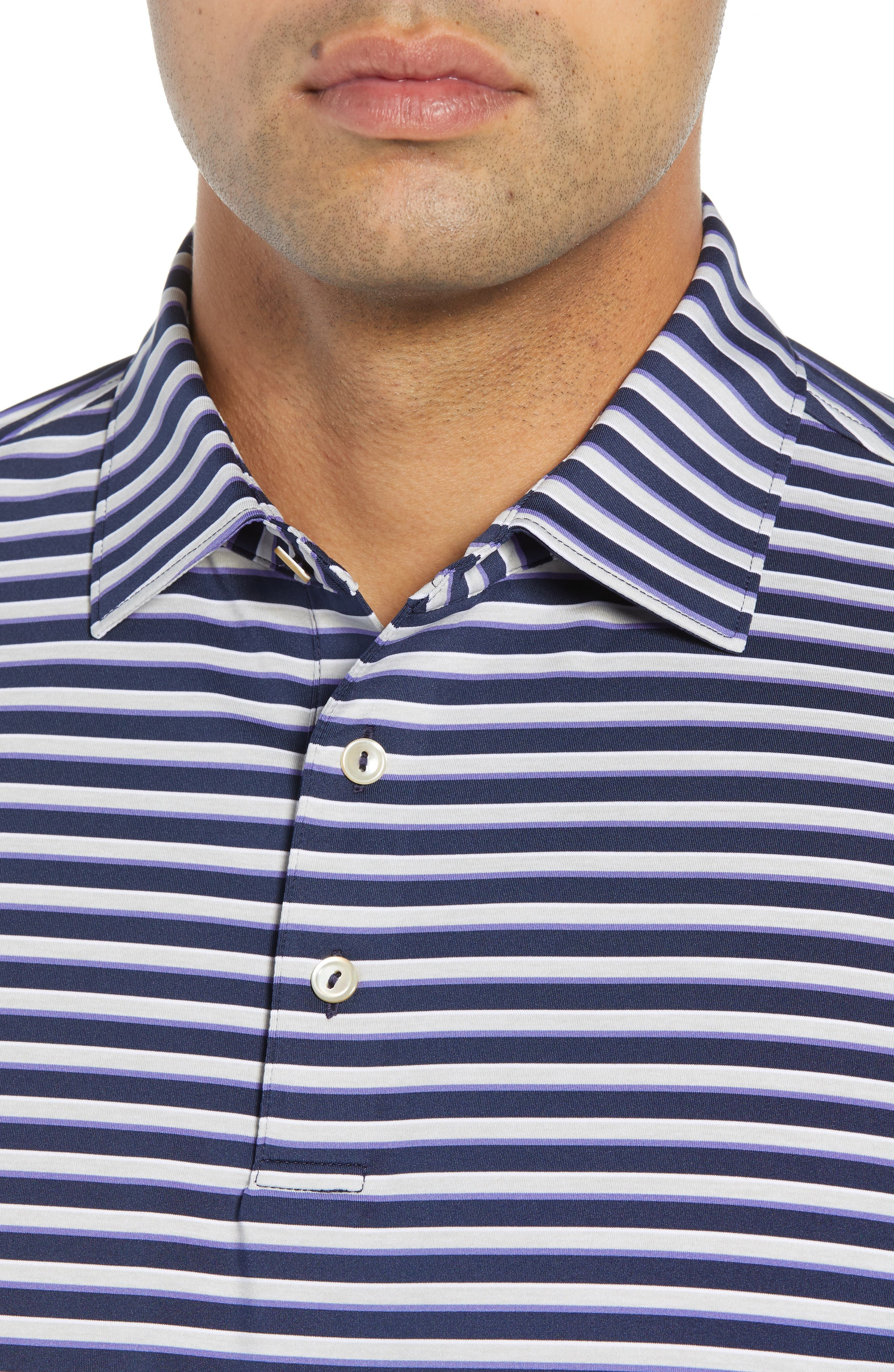 Camelot Stripe Stretch Jersey Polo,                             Alternate thumbnail 4, color,                             410