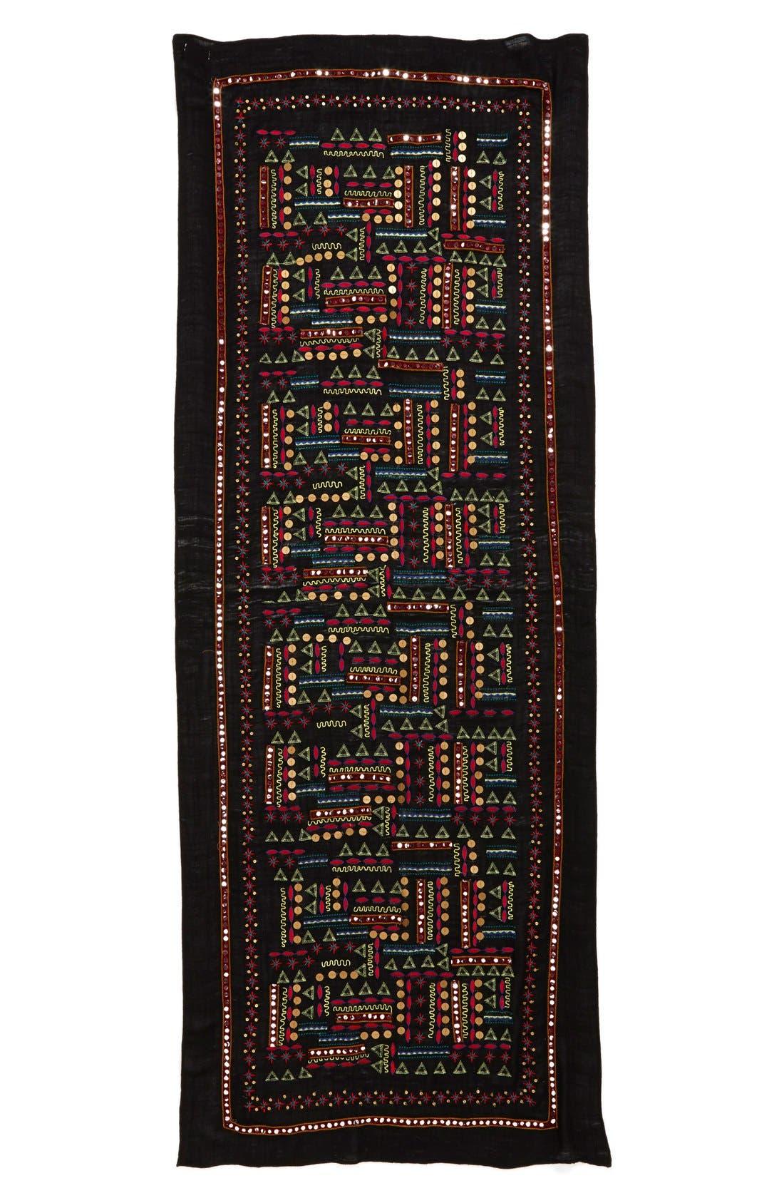 Embellished Scarf,                         Main,                         color, 001