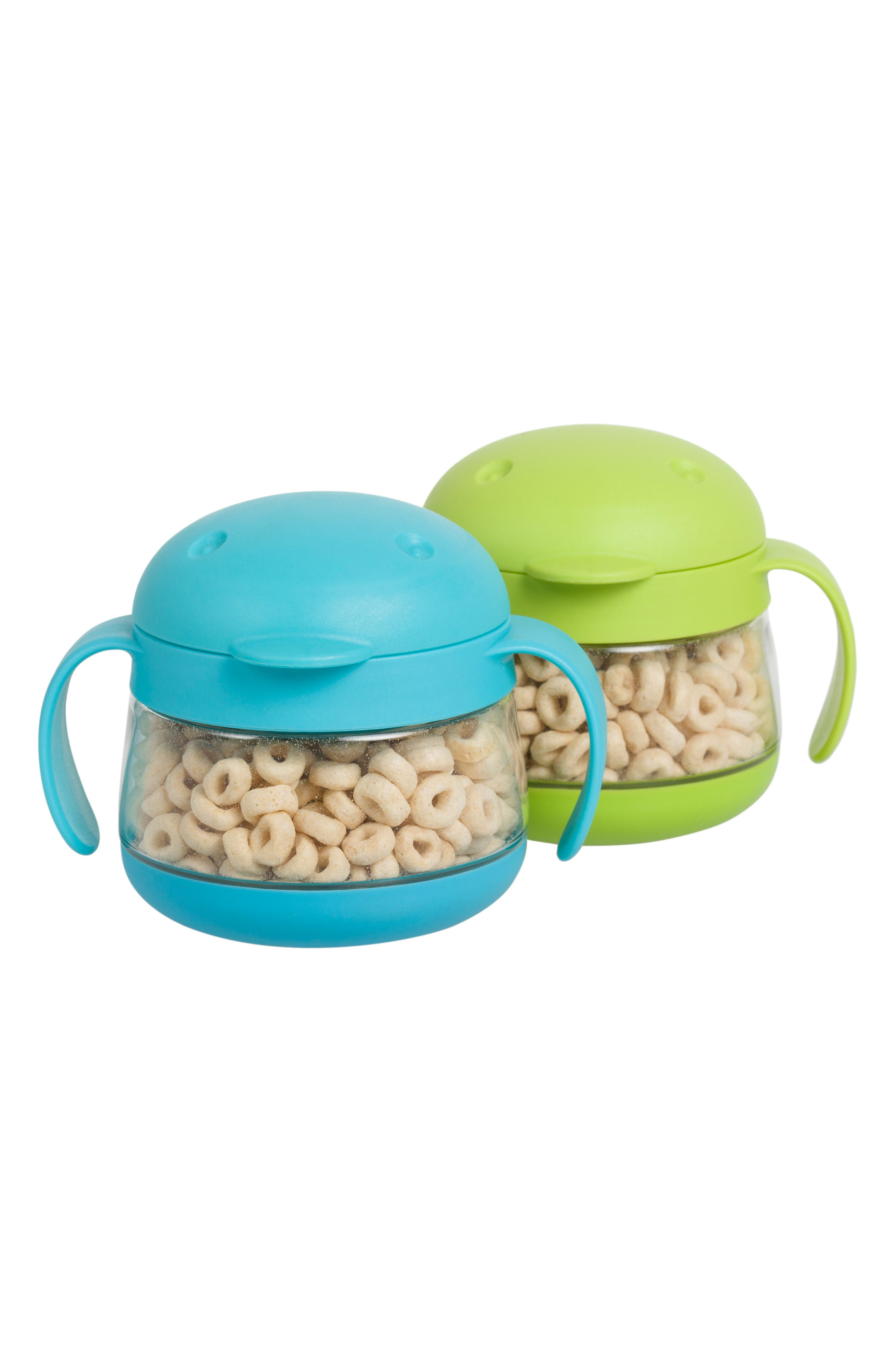 Tweat 2-Pack Snack Container,                             Alternate thumbnail 3, color,                             GREEN/ BLUE
