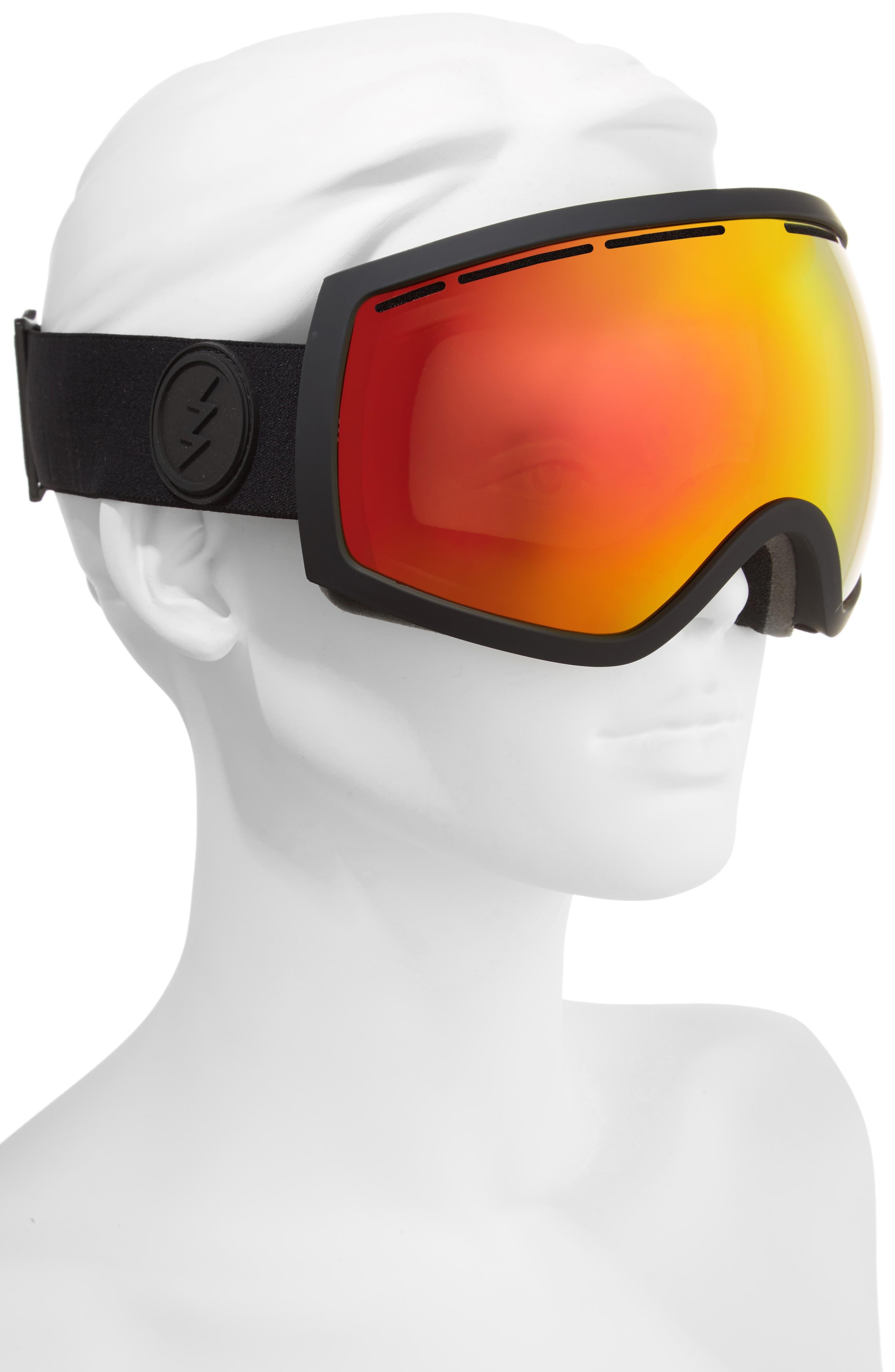 EG2 Snow Goggles,                             Alternate thumbnail 2, color,                             MATTE BLACK/ RED CHROME