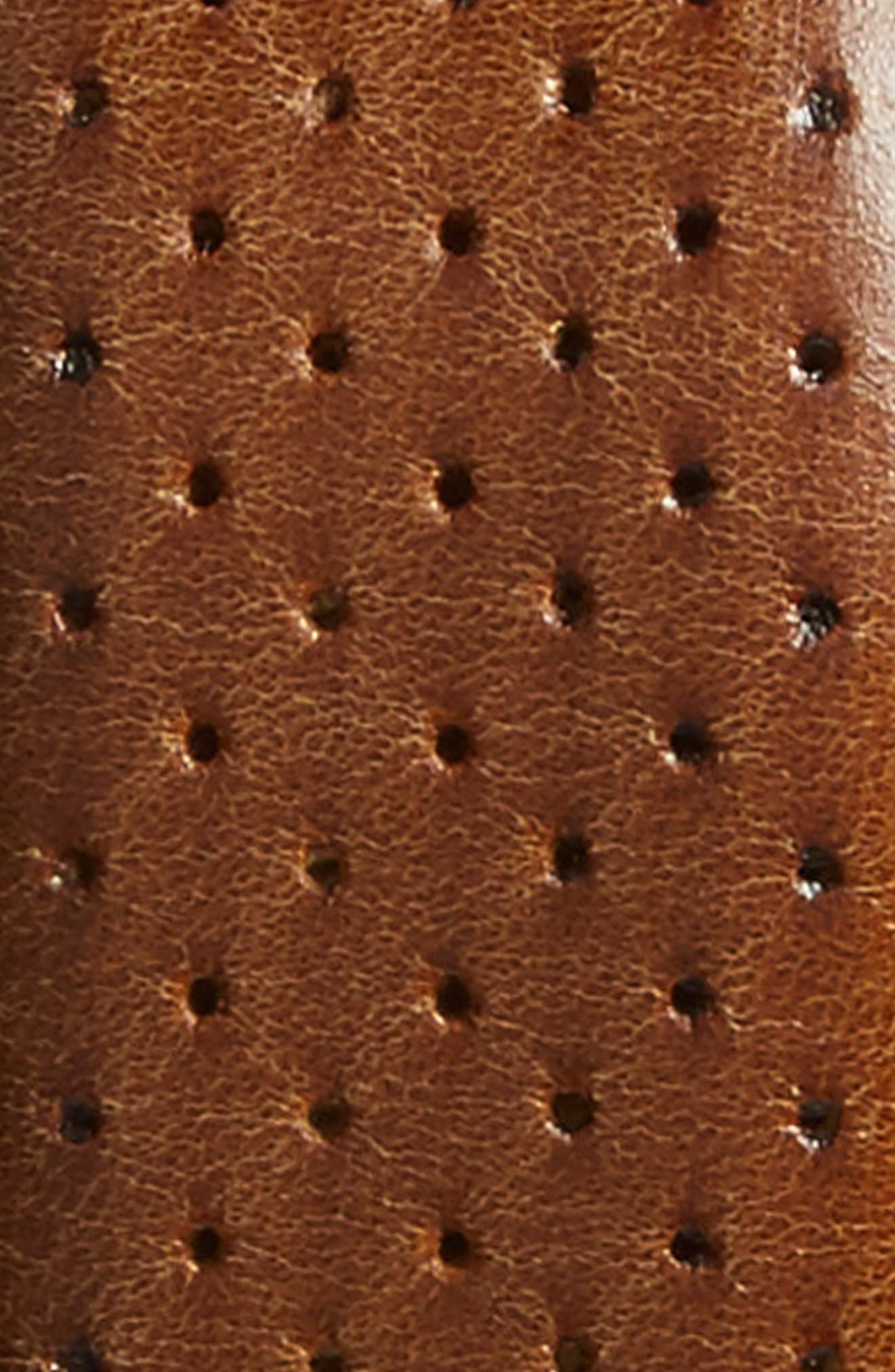 Alfa Perforated Leather Belt,                             Alternate thumbnail 2, color,                             HONEY