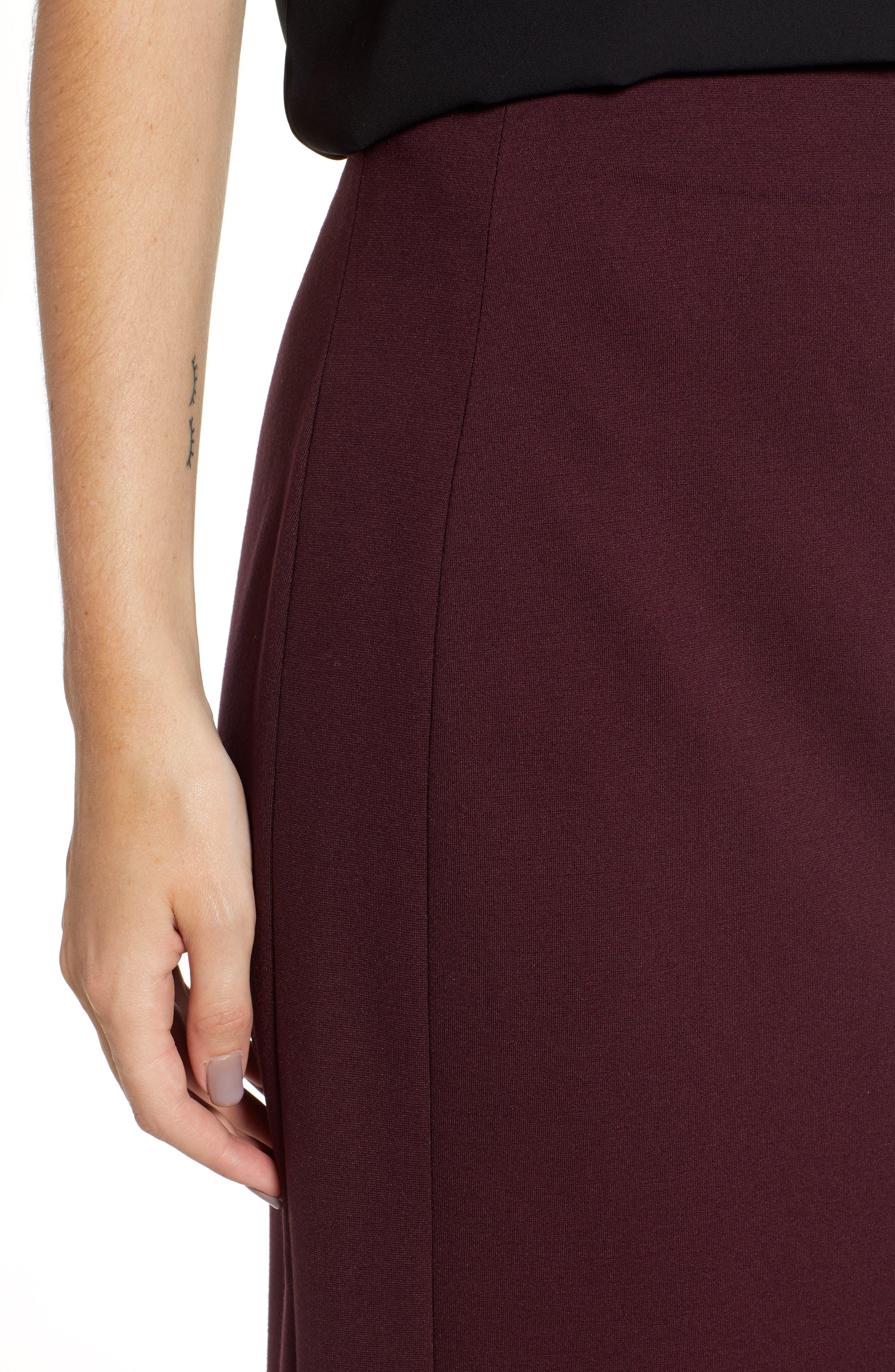 Ponte Midi Skirt,                             Alternate thumbnail 15, color,
