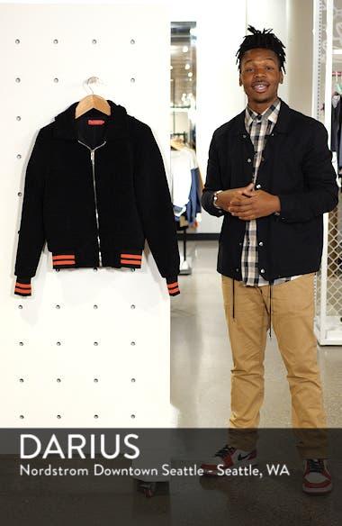 Gray Faux Fur Track Jacket, sales video thumbnail