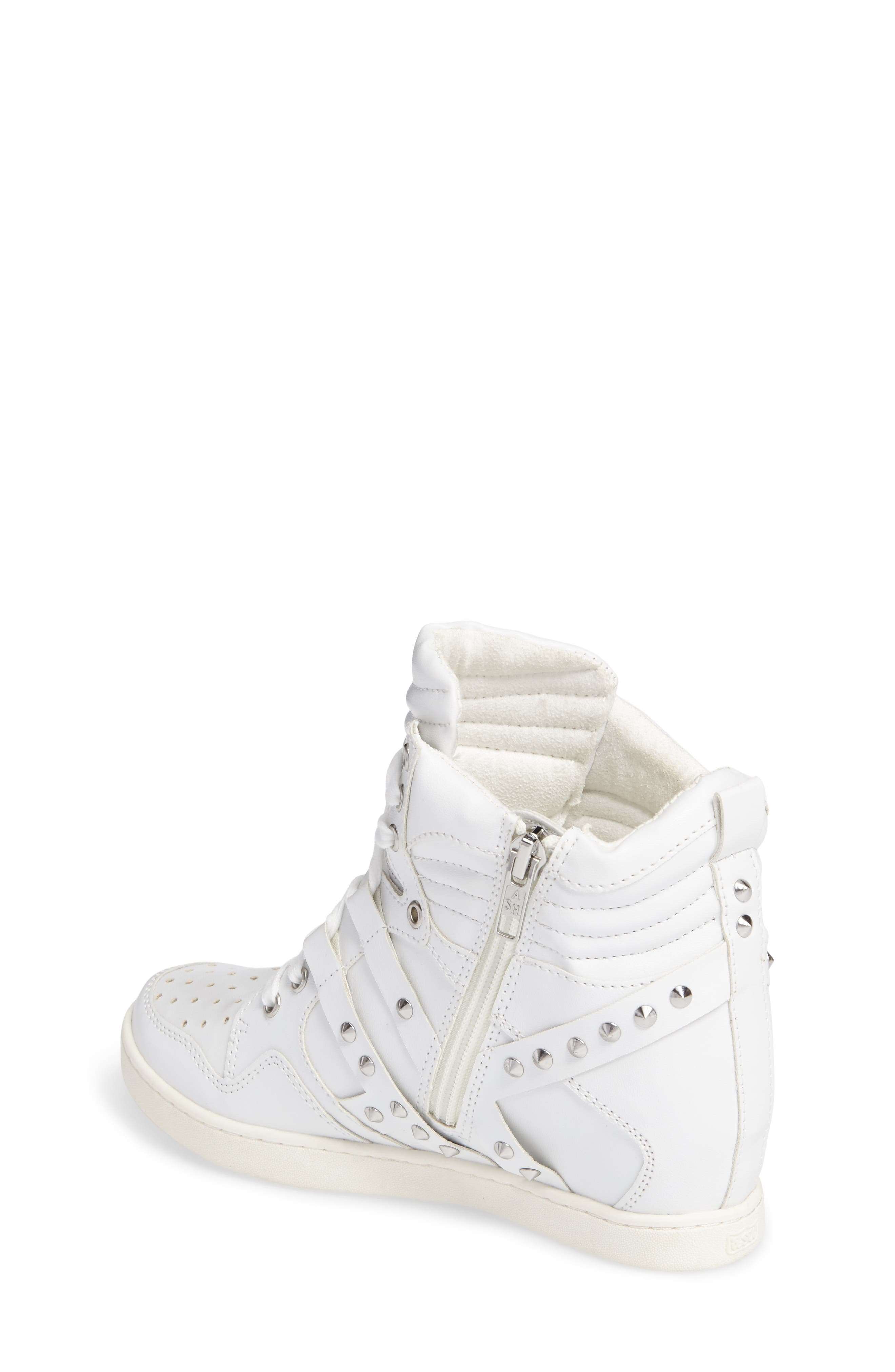 Boogie Chic Studded High Top Sneaker,                             Alternate thumbnail 4, color,