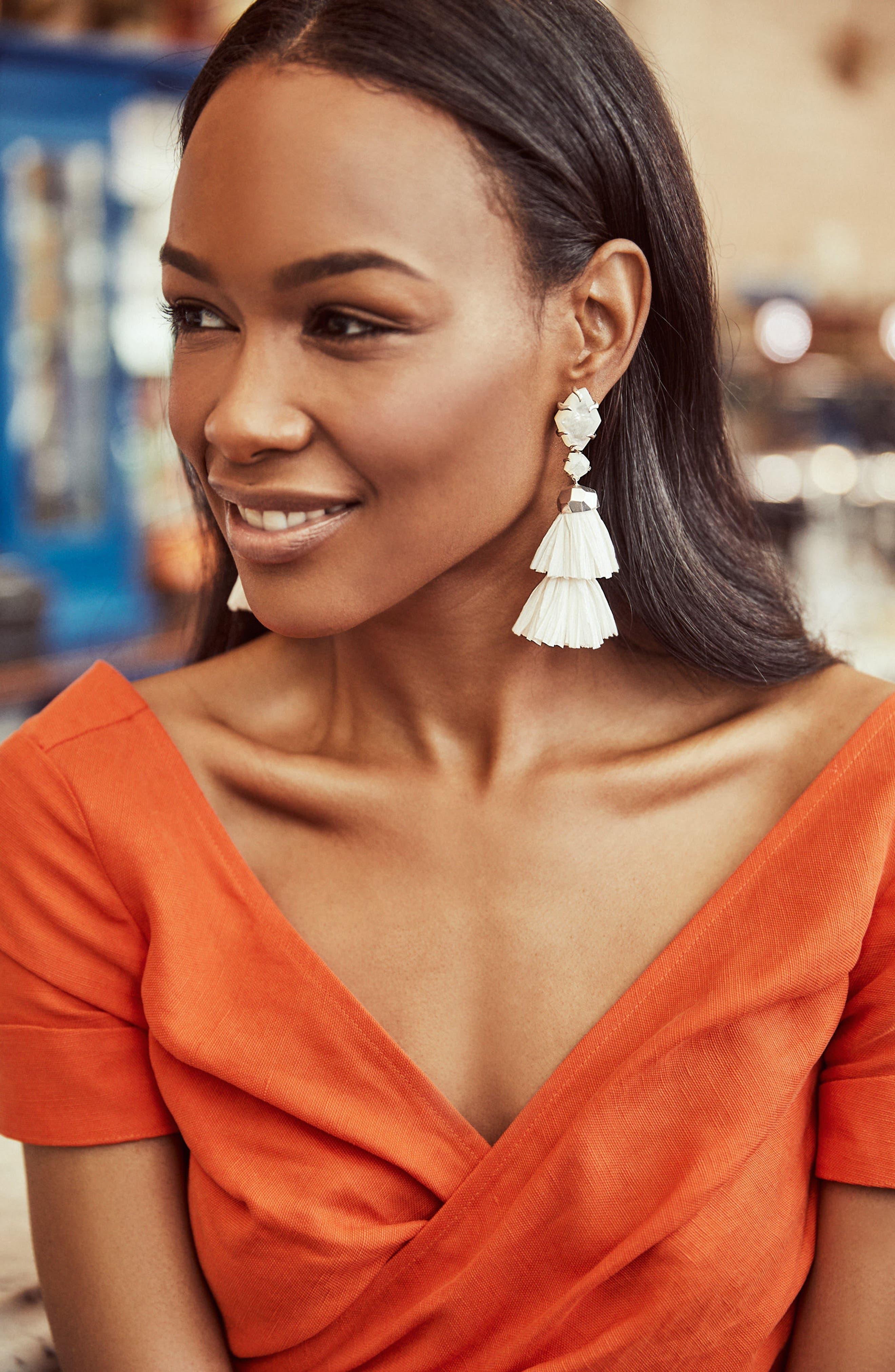 Denise 3-in-1 Tassel Earrings,                             Alternate thumbnail 5, color,                             100