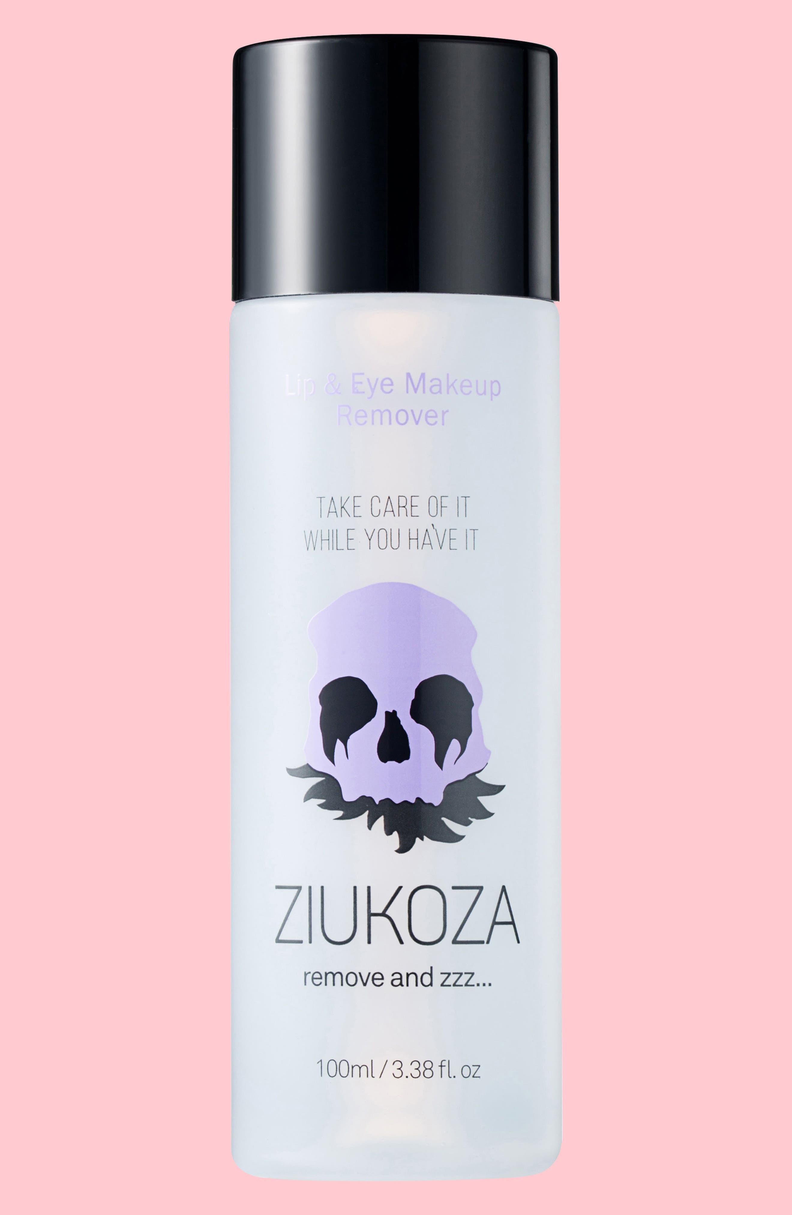Ziukoza Lip & Eye Makeup Remover,                             Main thumbnail 1, color,                             000