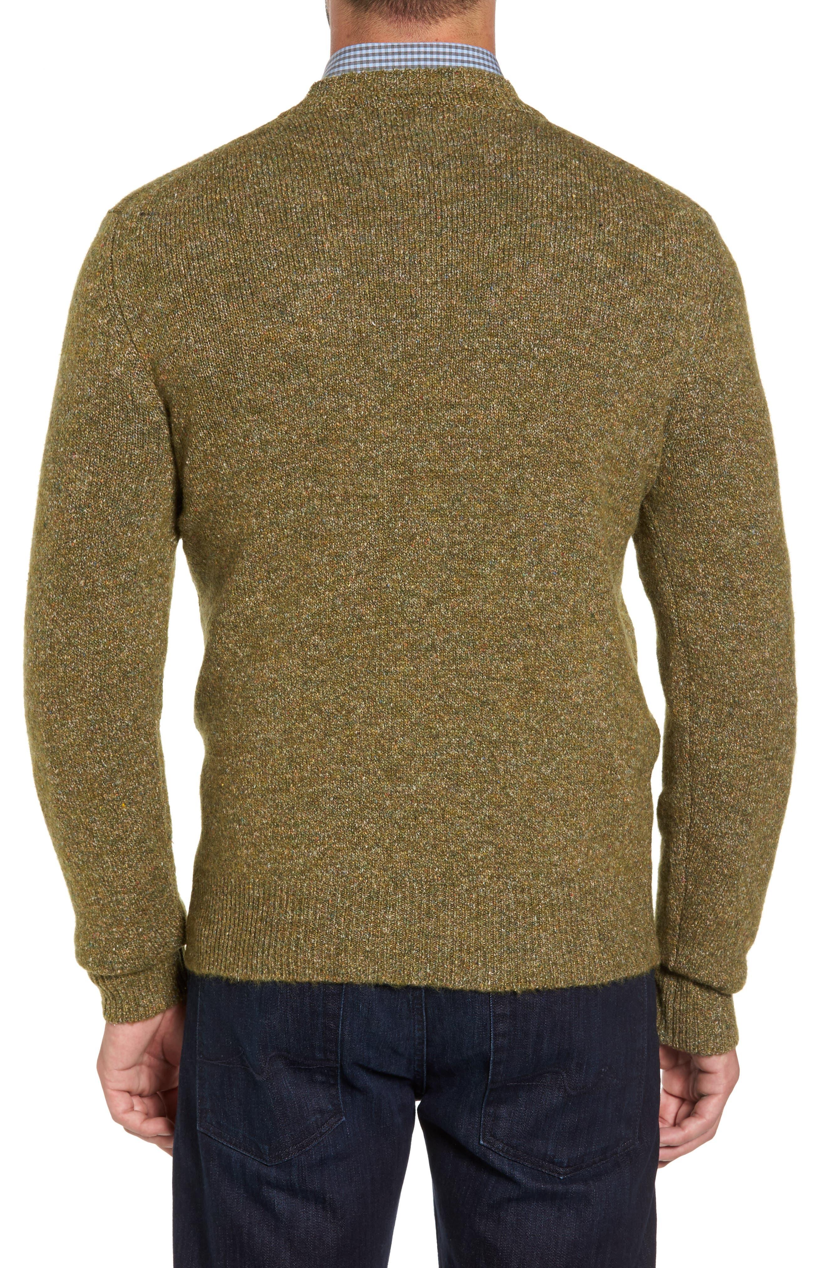 Tweed Crewneck Sweater,                             Alternate thumbnail 4, color,