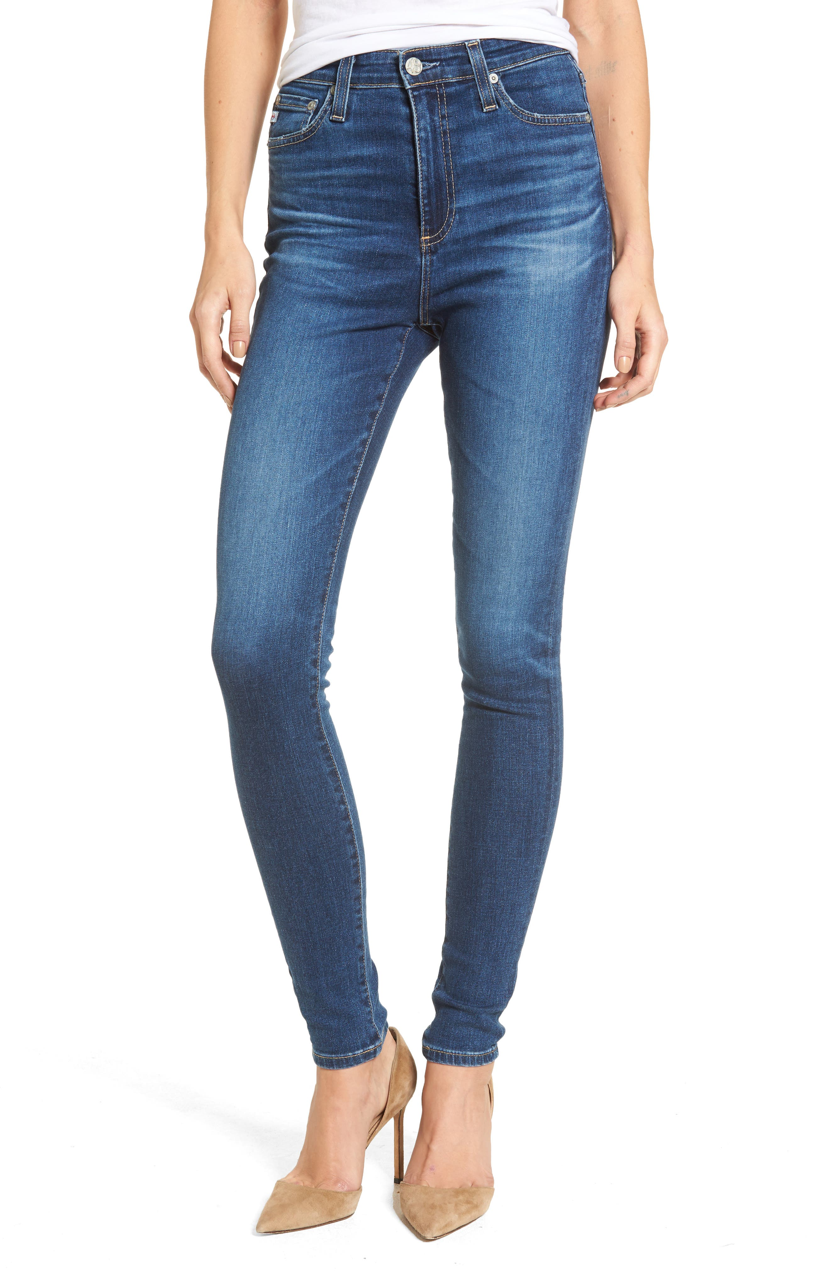 Mila High Waist Skinny Jeans,                         Main,                         color, 473
