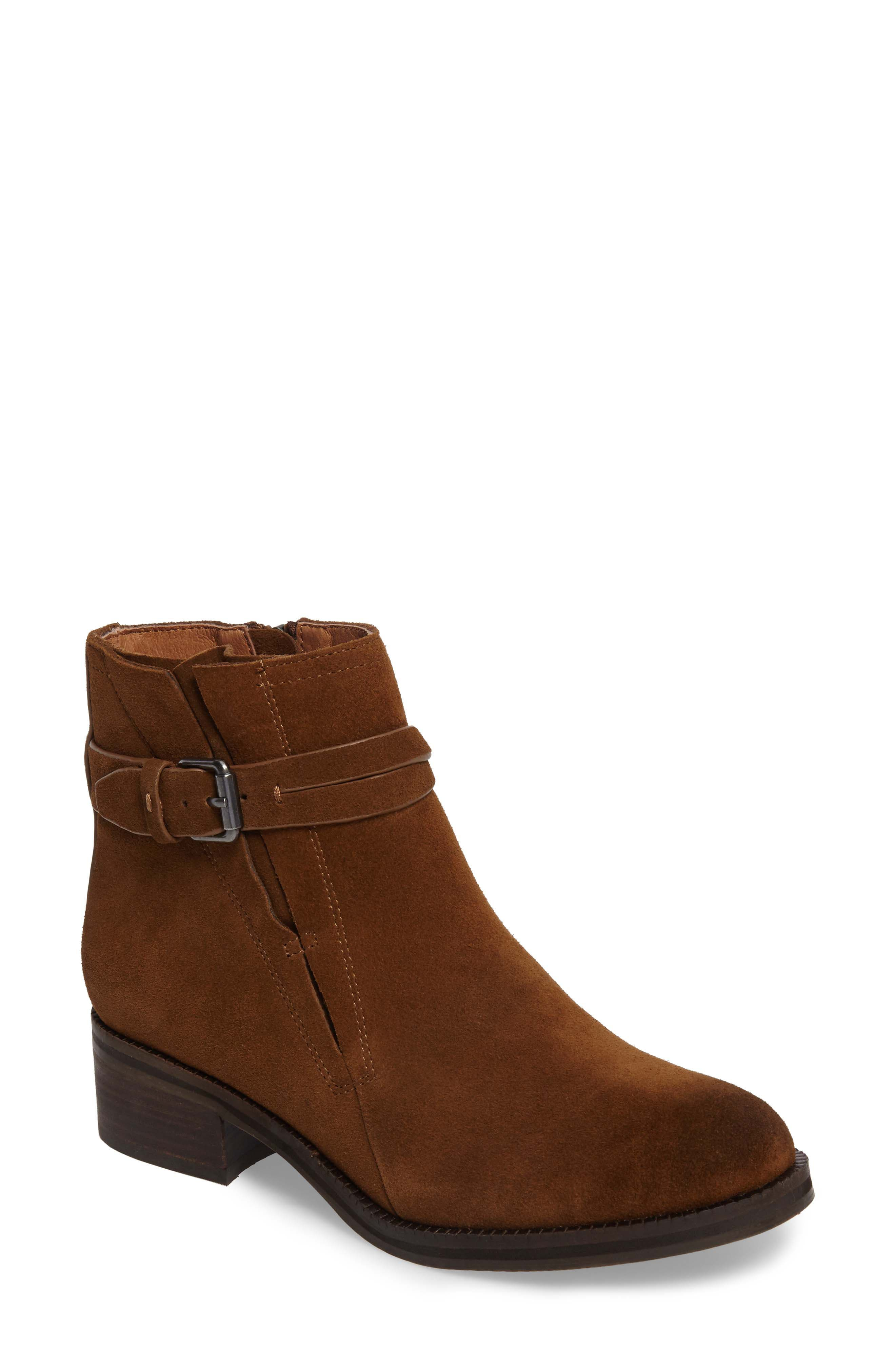 by Kenneth Cole Percy Bootie,                             Main thumbnail 1, color,                             WALNUT SUEDE