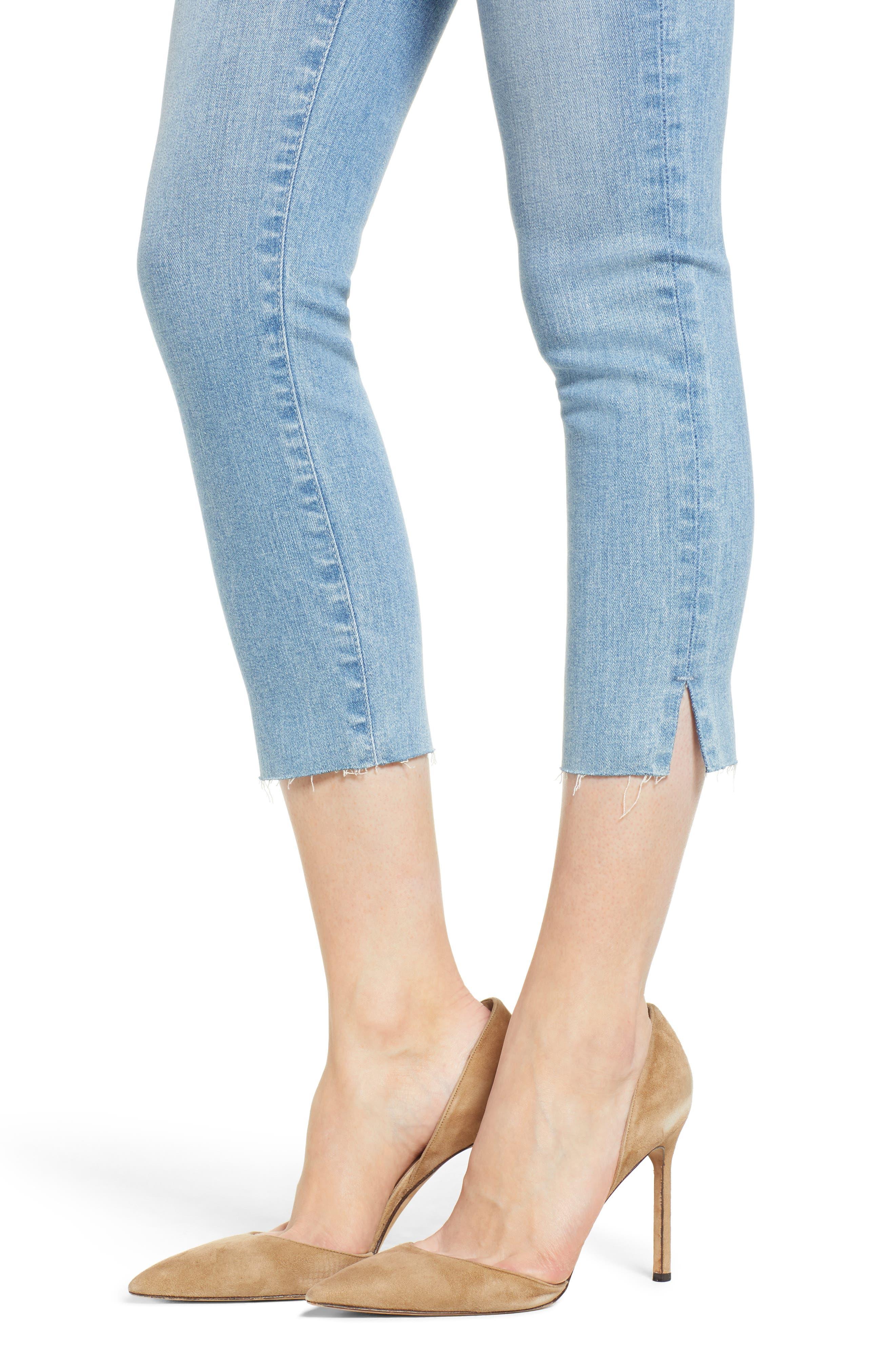 Prima Crop Skinny Jeans,                             Alternate thumbnail 4, color,                             SINGULARITY