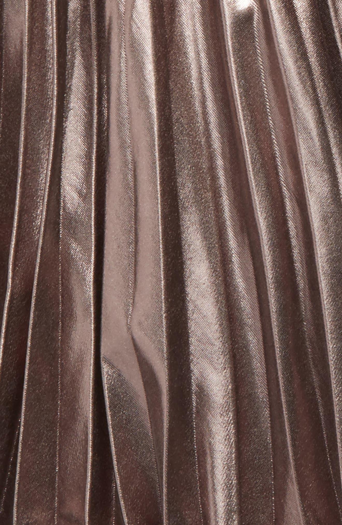 Wild Hearts Metallic Pleat Skirt,                             Alternate thumbnail 2, color,                             020