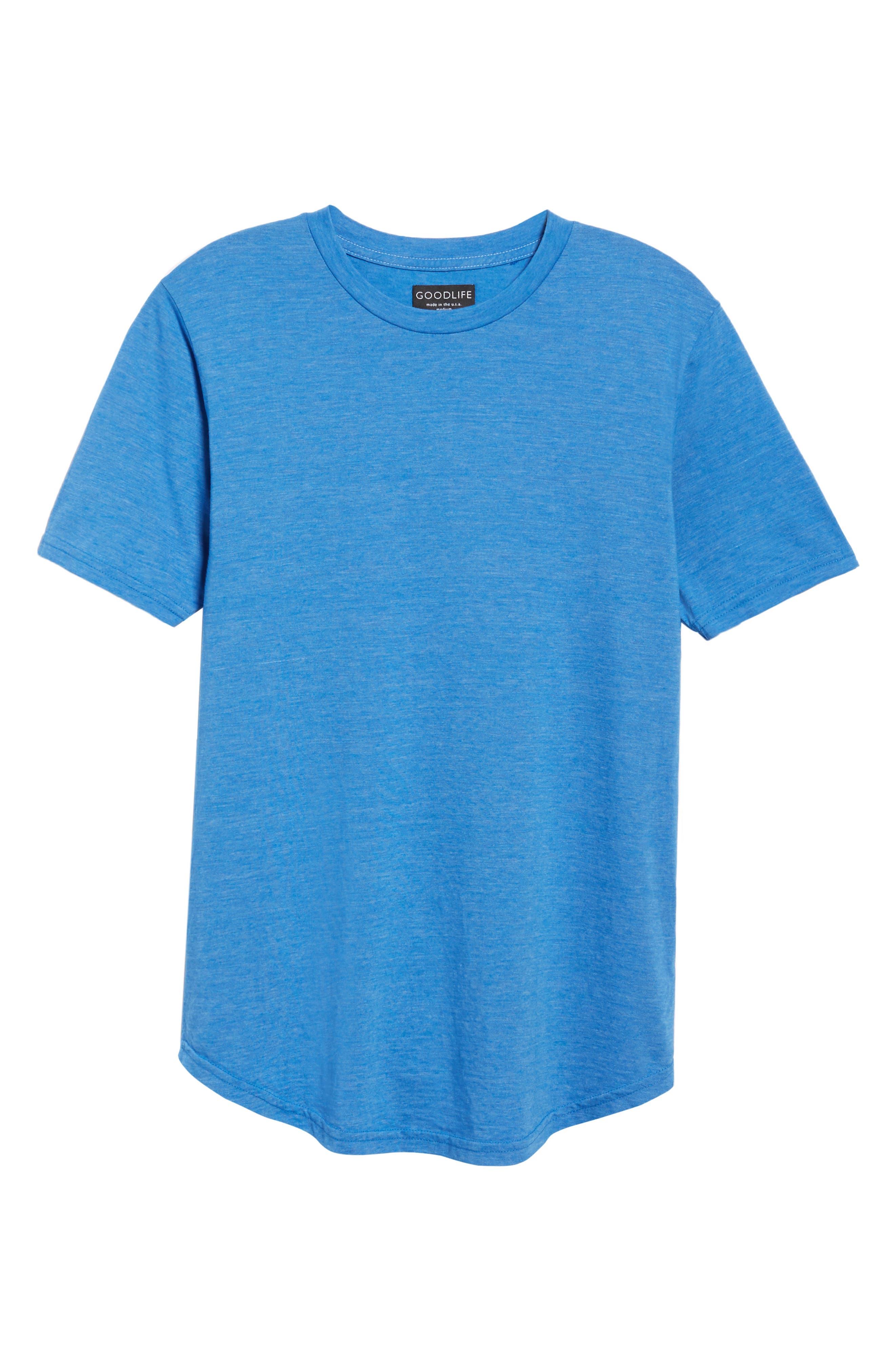 Scallop Triblend Crewneck T-Shirt,                             Alternate thumbnail 42, color,
