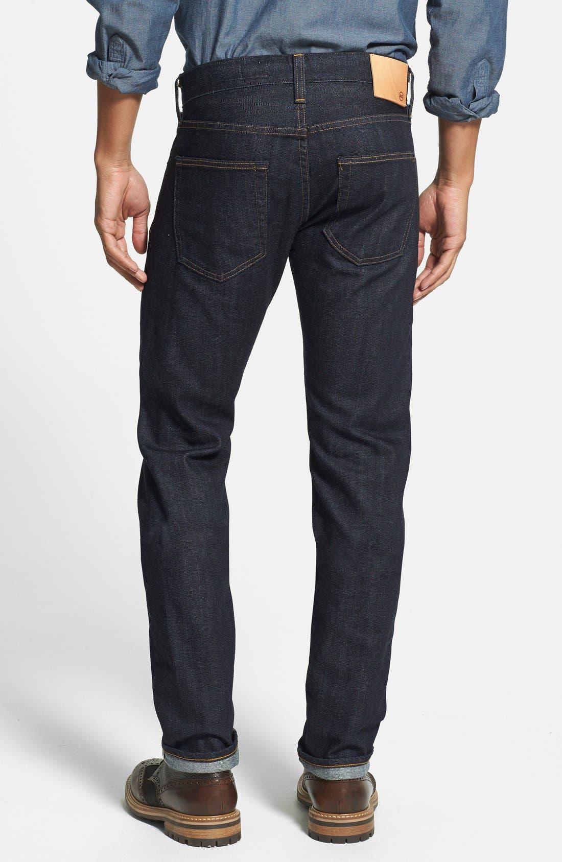 AG,                             'Nomad' Skinny Fit Selvedge Jeans,                             Alternate thumbnail 2, color,                             405