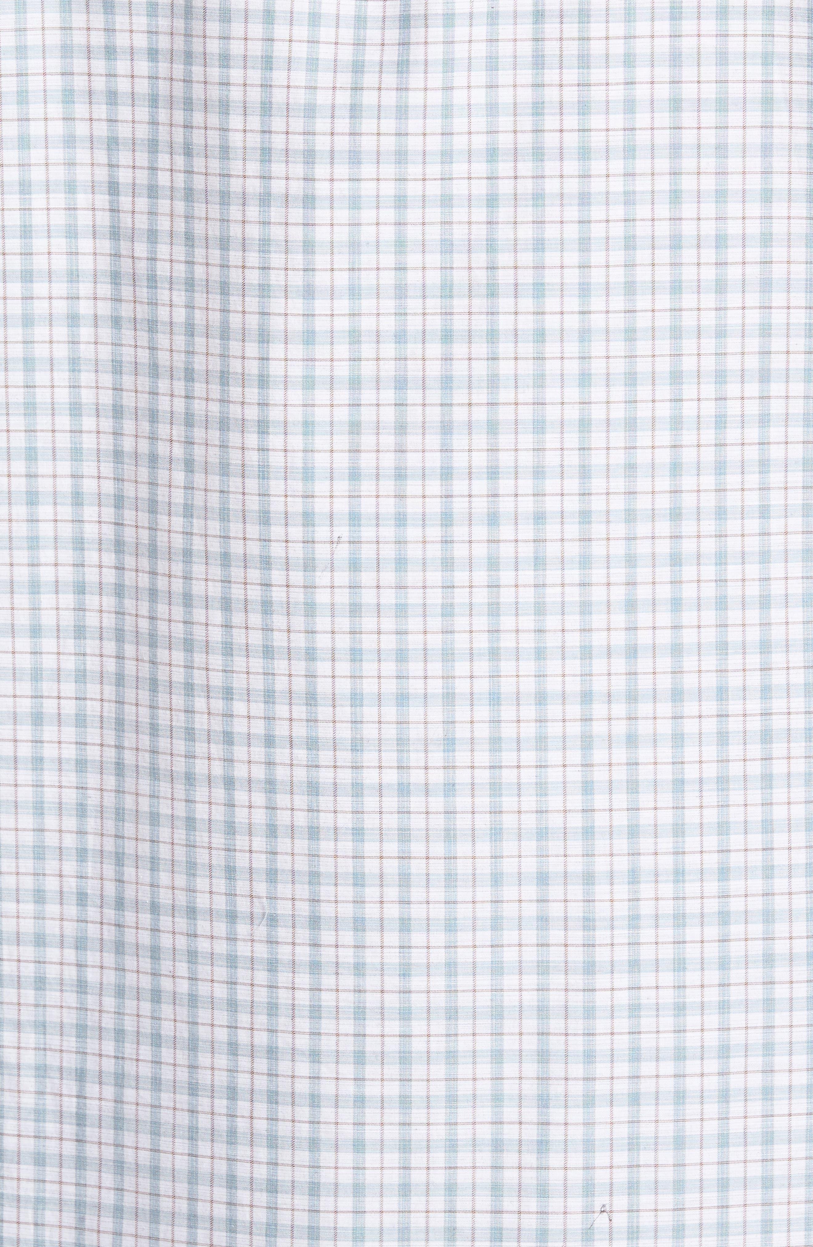 Carterton Sports Fit Plaid Sport Shirt,                             Alternate thumbnail 5, color,                             457