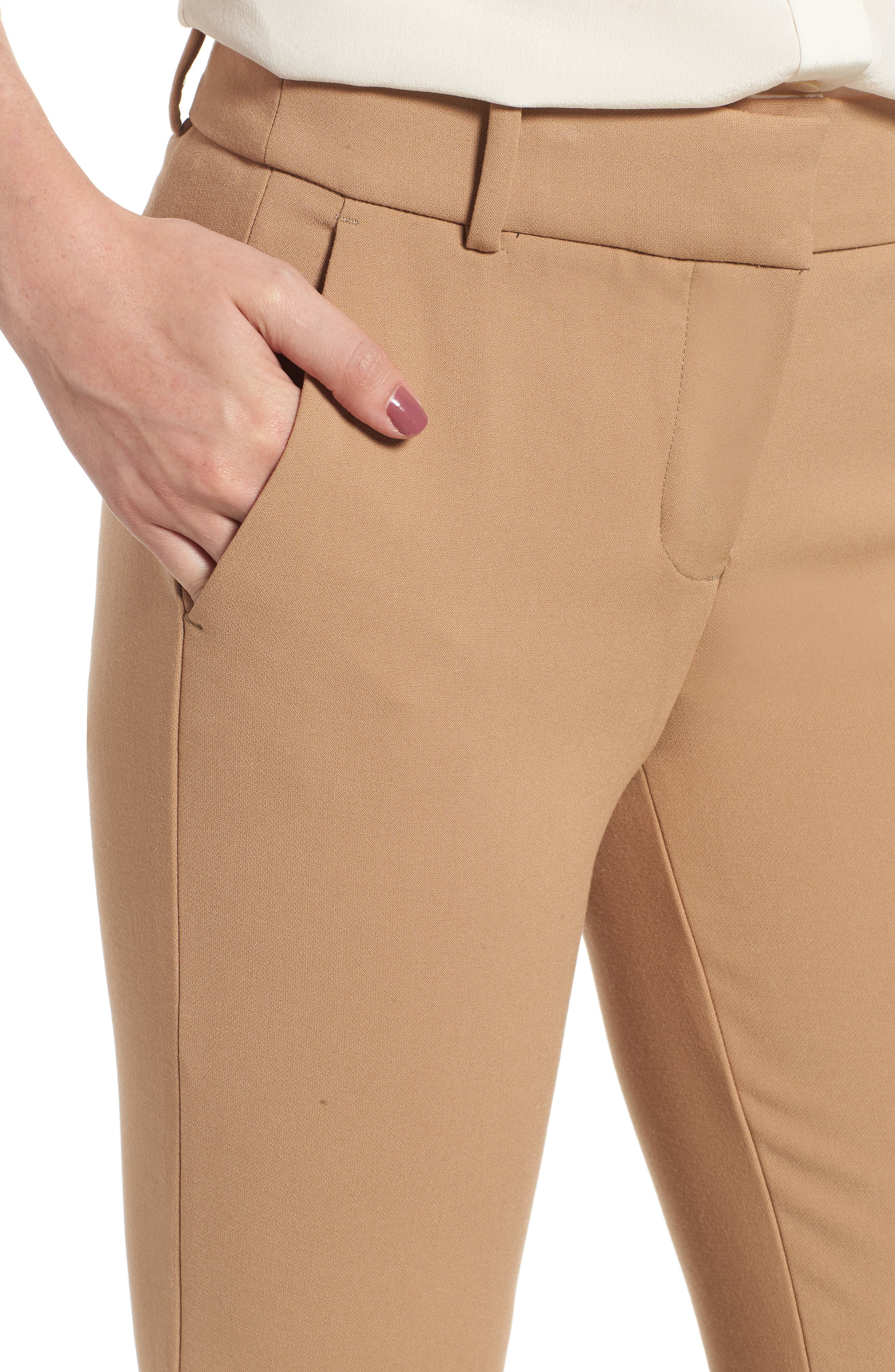Cameron Four Season Crop Pants,                             Alternate thumbnail 4, color,                             HEATHER SADDLE