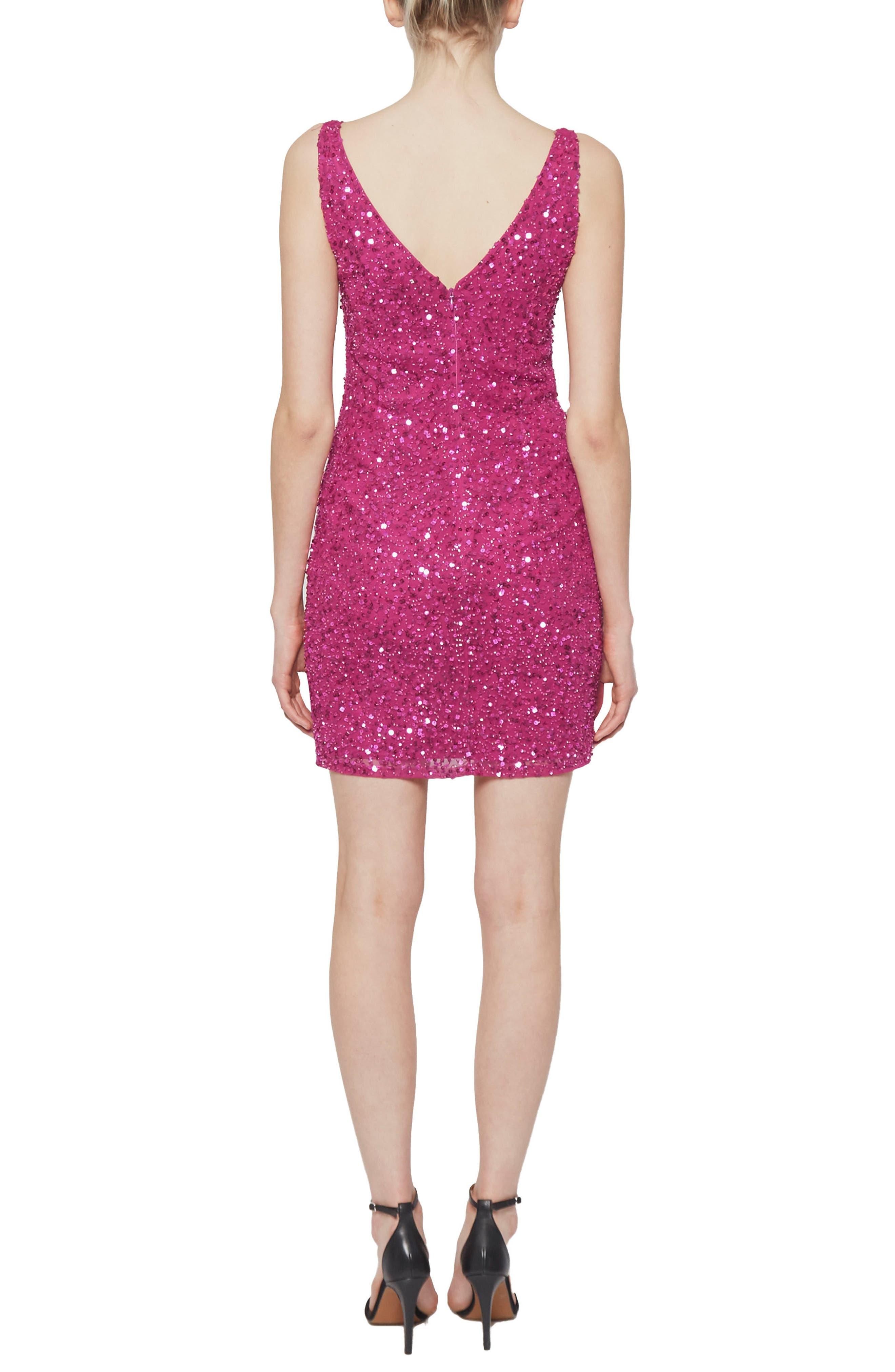 Helen Sequin Body-Con Dress,                             Alternate thumbnail 2, color,                             652