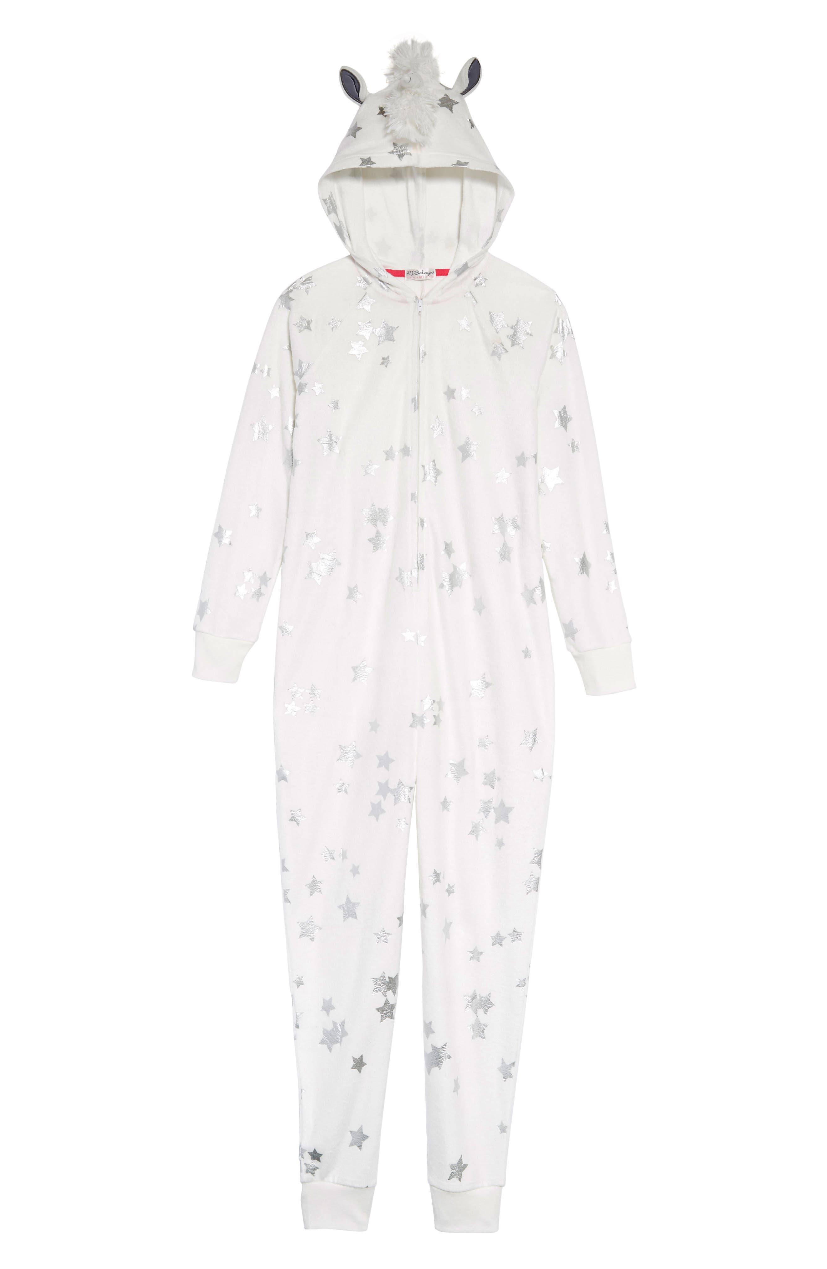 Girls Pj Salvage Unicorn OnePiece Pajamas