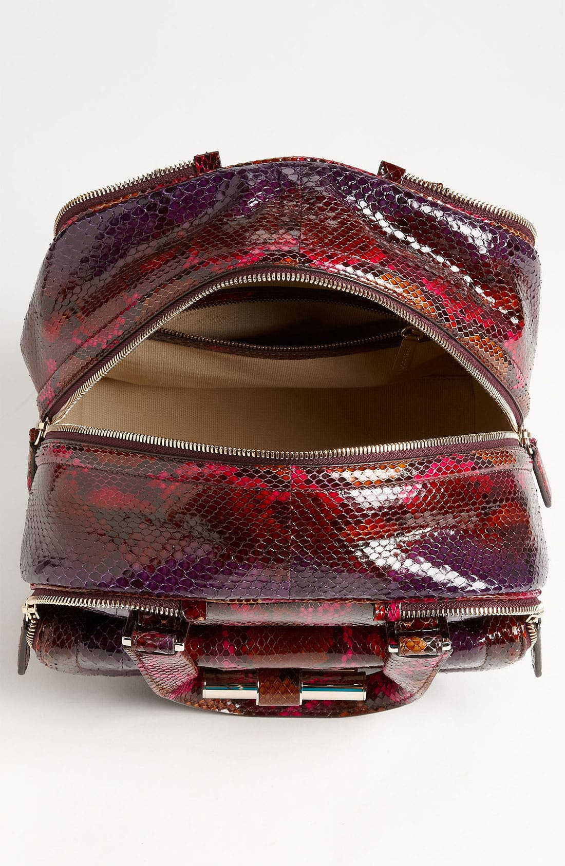JIMMY CHOO,                             'Justine - Small' Genuine Python Satchel,                             Alternate thumbnail 2, color,                             500