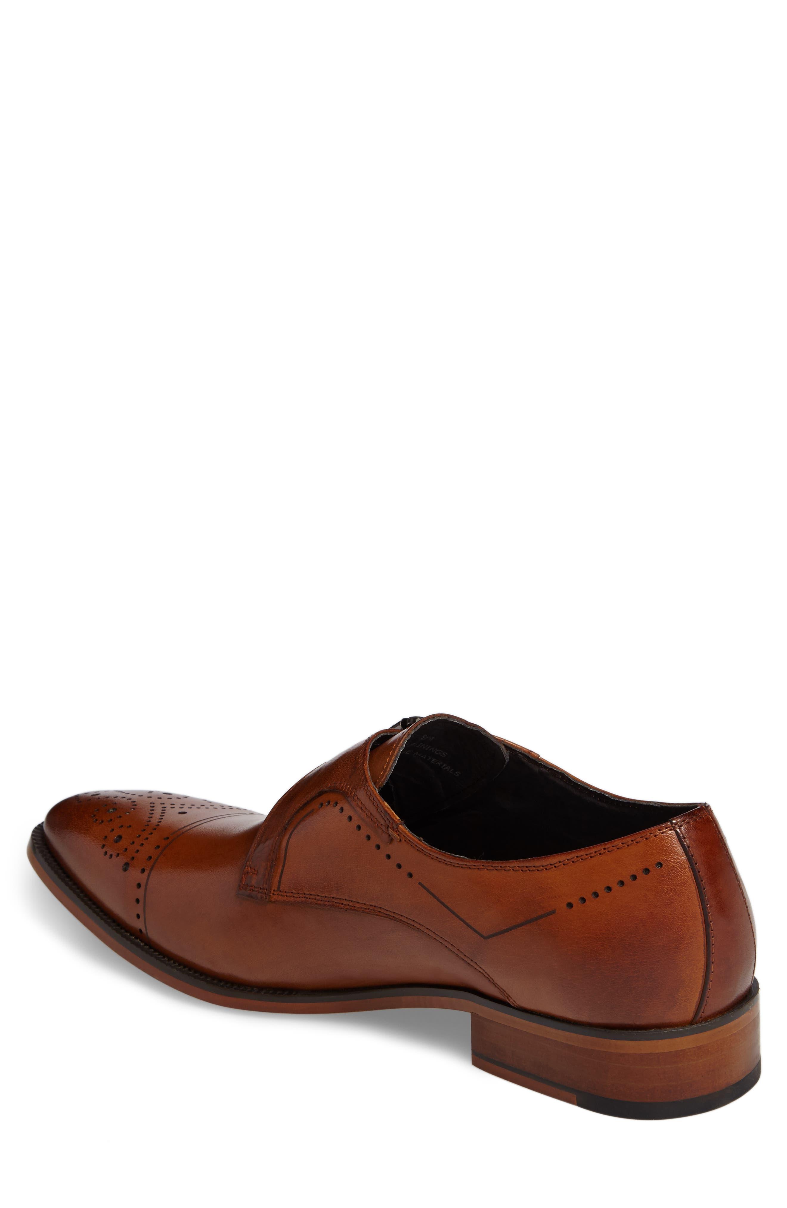 Kimball Monk Strap Shoe,                             Alternate thumbnail 2, color,                             SADDLE TAN LEATHER
