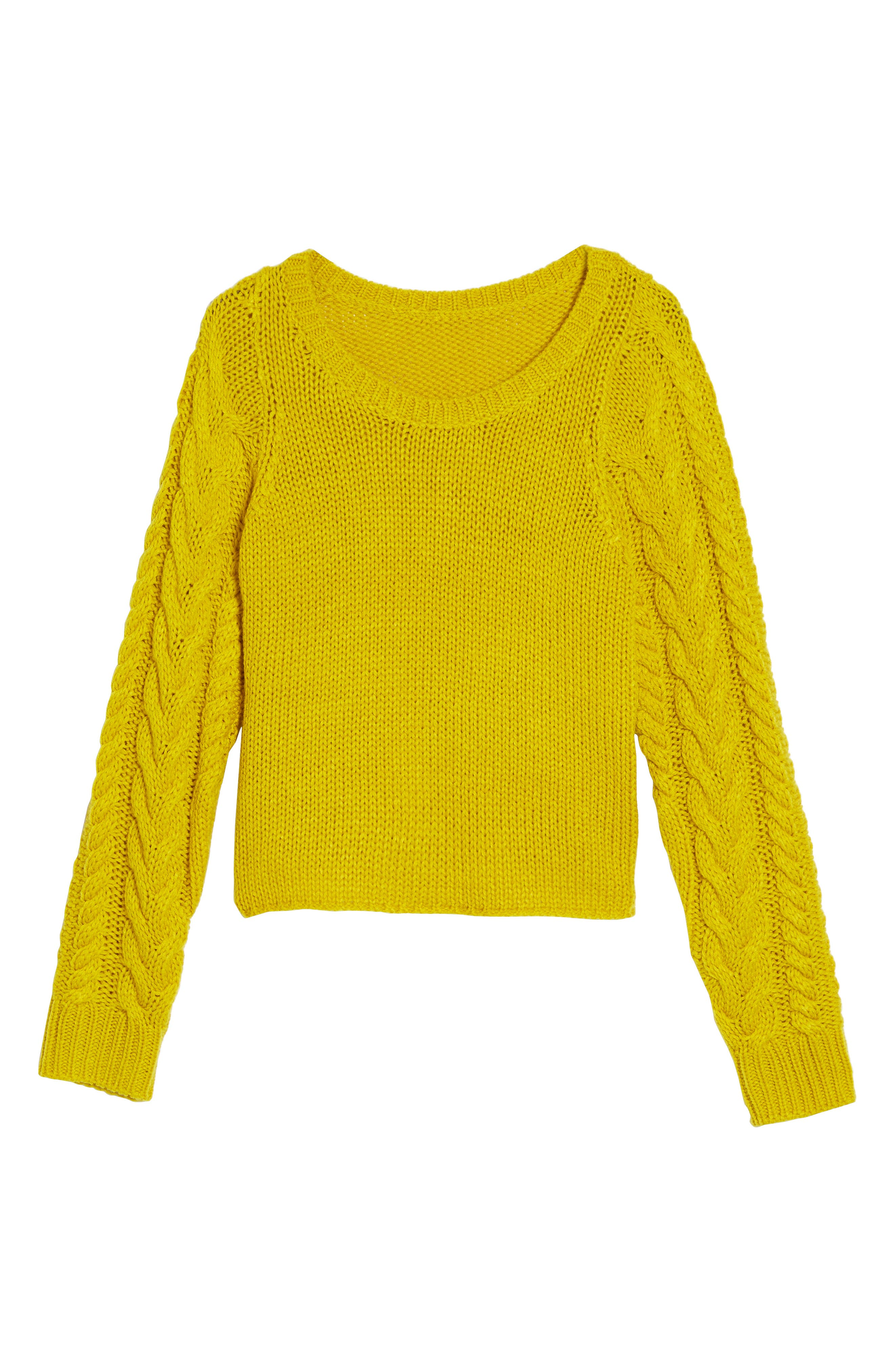 Cable Sleeve Pullover,                             Alternate thumbnail 12, color,