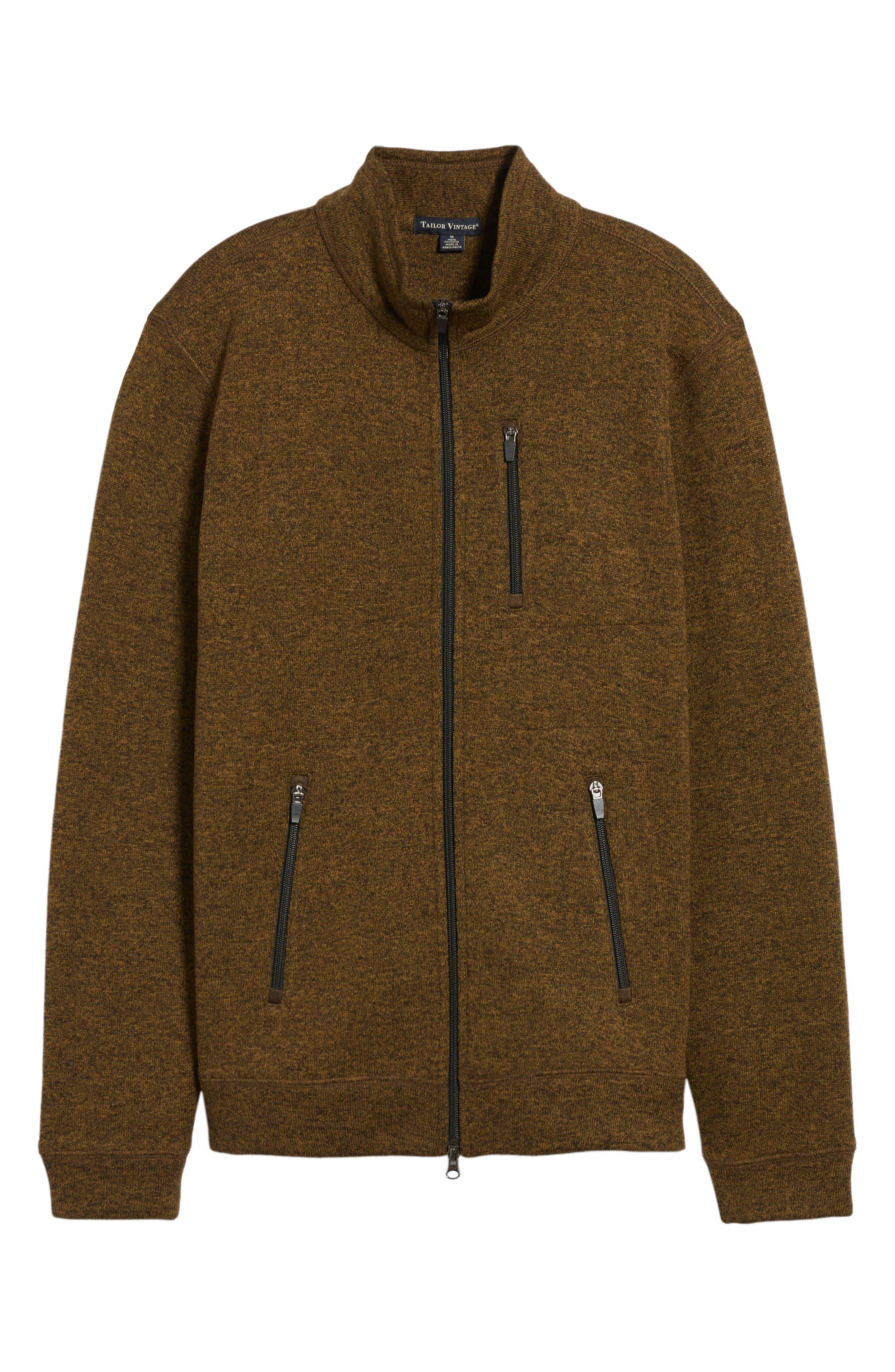 Sweater Knit Fleece Zip Front Jacket,                             Alternate thumbnail 17, color,