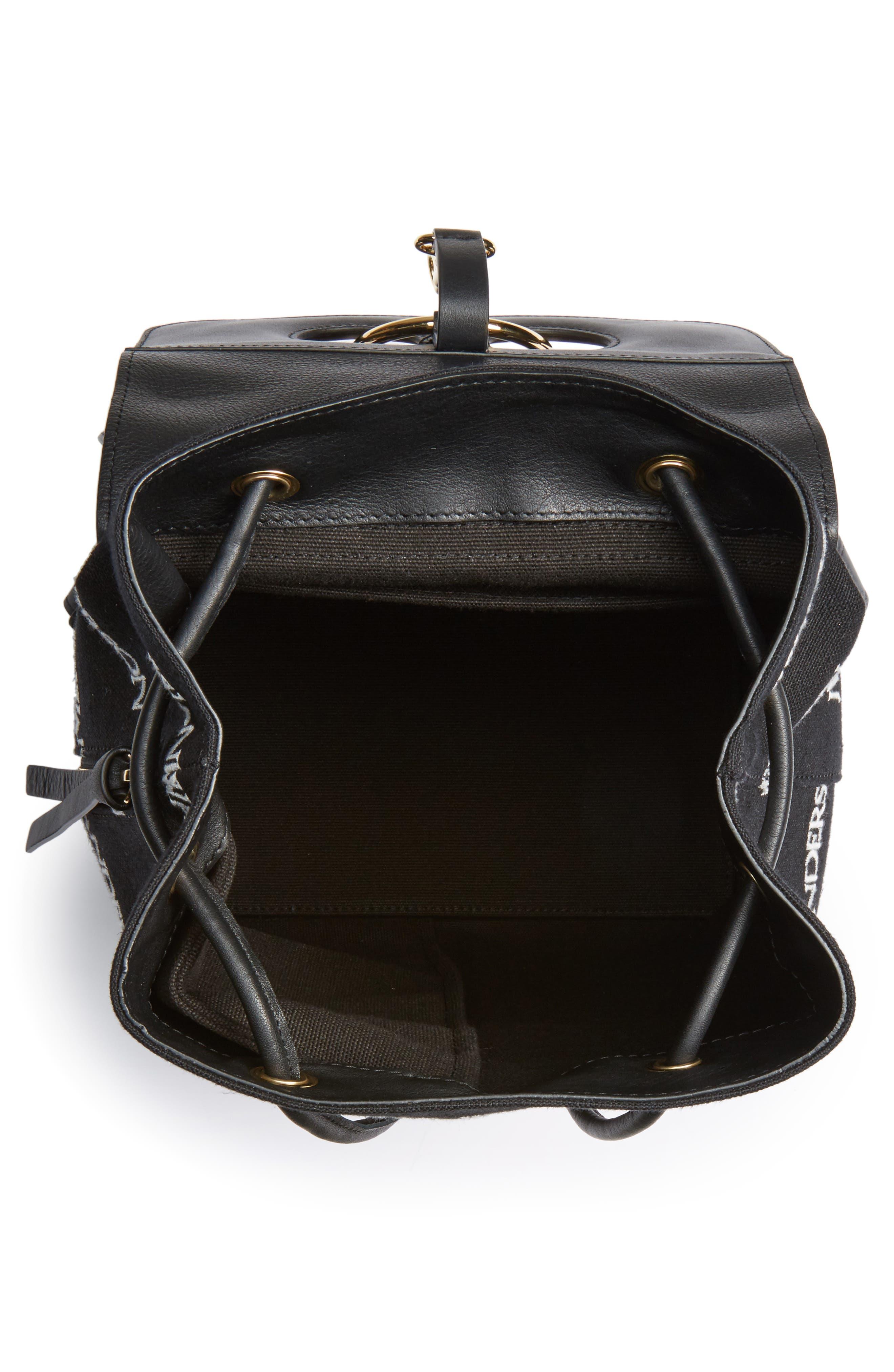 JW ANDERSON,                             Mini Pierce Logo Backpack,                             Alternate thumbnail 4, color,                             001