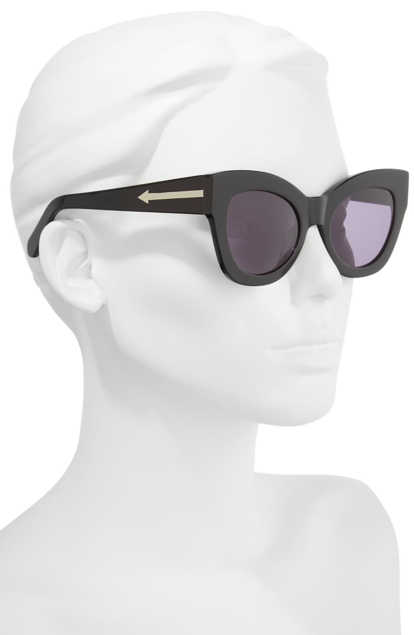 Northern Lights V2 51mm Cat Eye Sunglasses,                             Alternate thumbnail 2, color,                             001