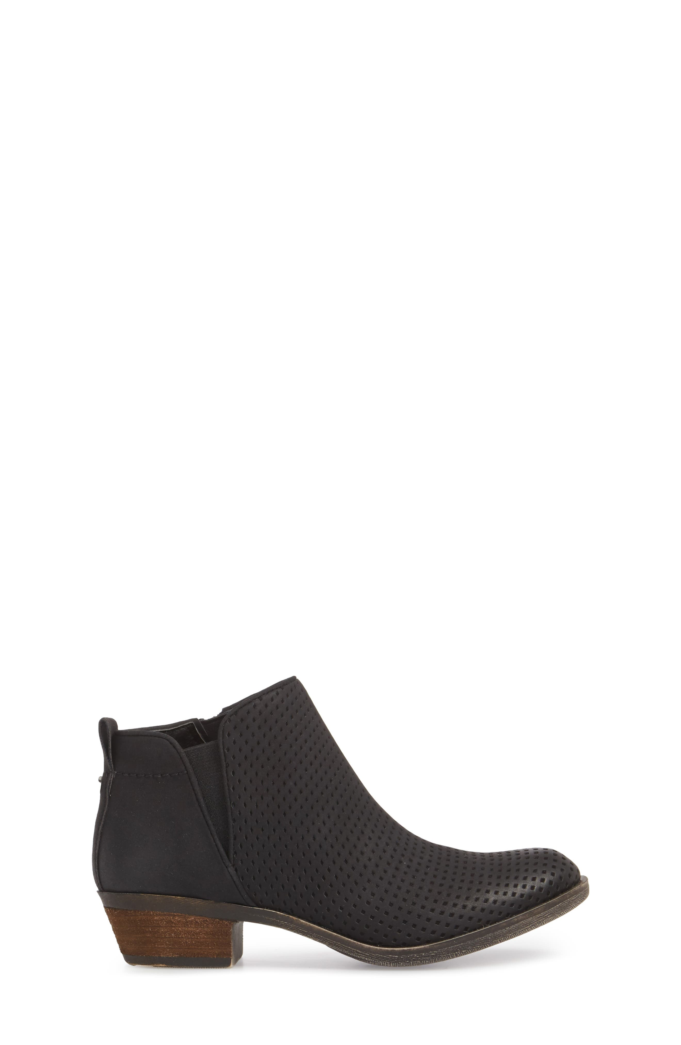 Isla Bootie,                             Alternate thumbnail 3, color,                             BLACK FAUX LEATHER