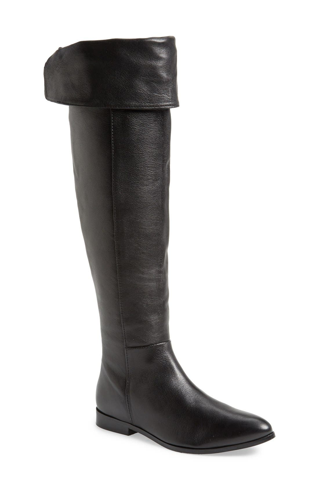 'Victory' Over the Knee Boot,                             Main thumbnail 1, color,                             001