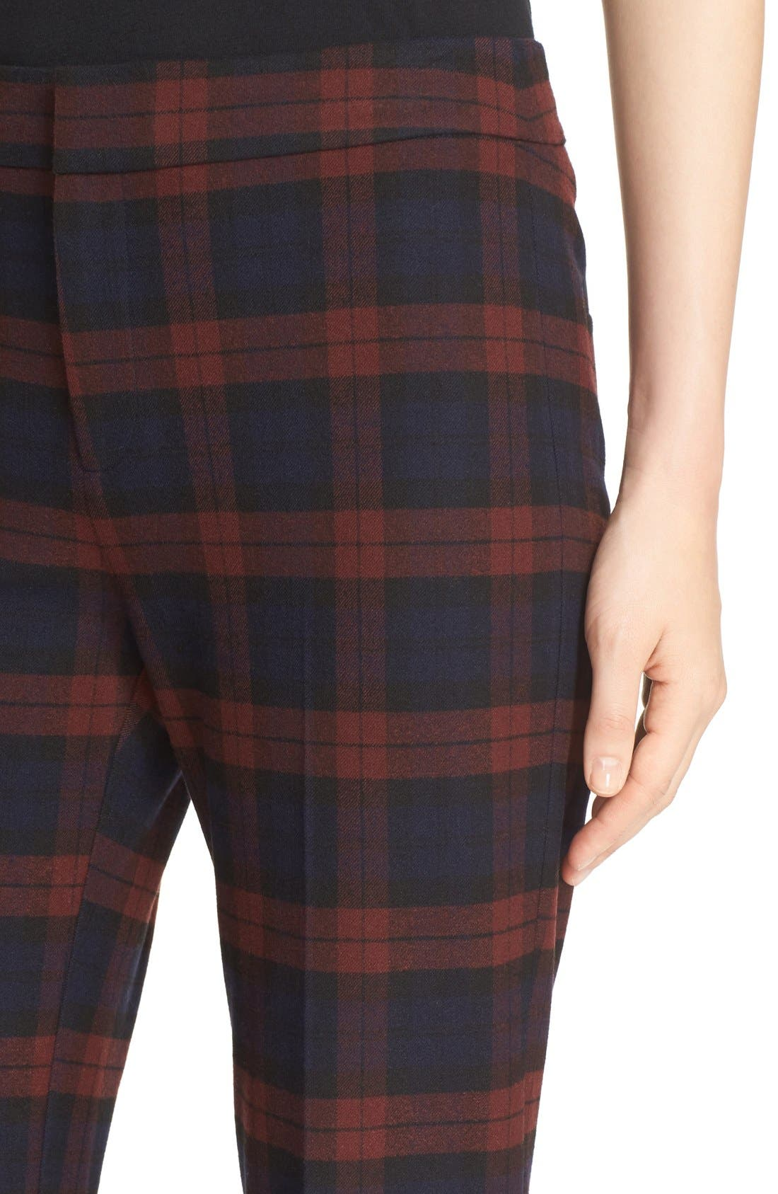 Plaid Flannel Pants,                             Alternate thumbnail 3, color,                             400
