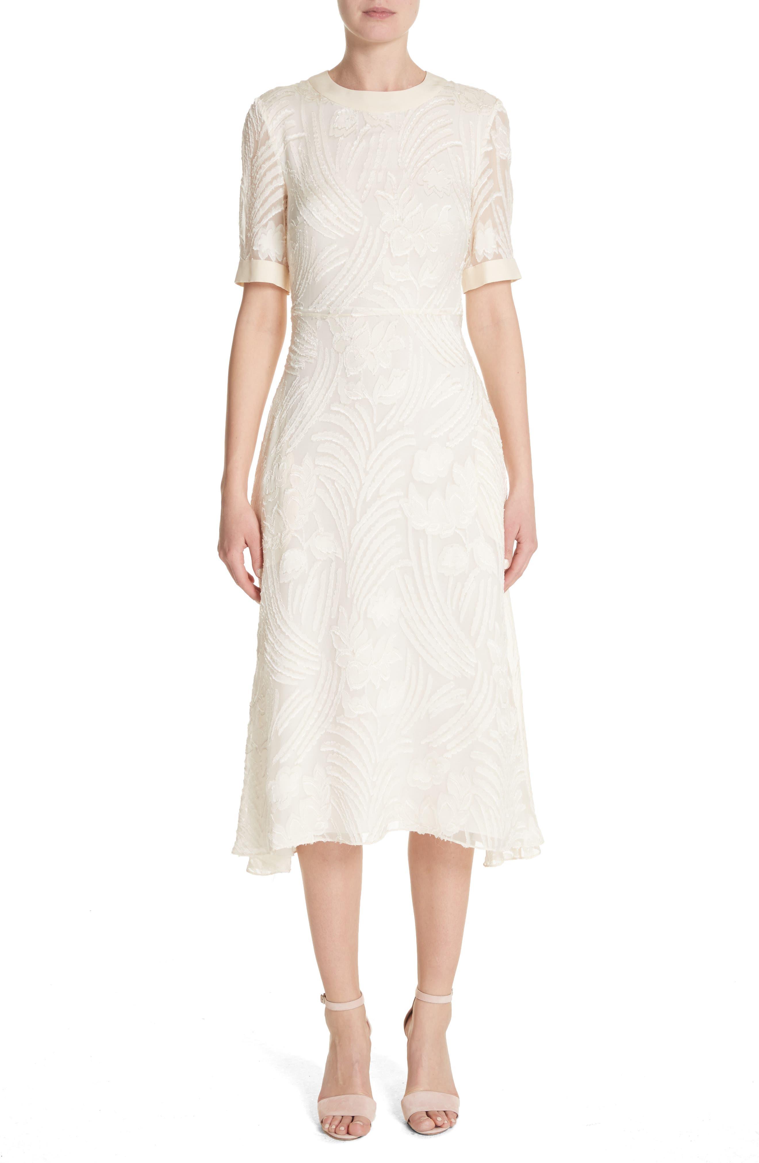Fil Coupé A-Line Dress,                             Main thumbnail 1, color,                             906