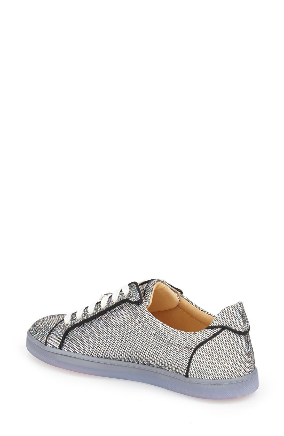 'Seava' Disco Ball Glitter Sneaker,                             Alternate thumbnail 2, color,                             040