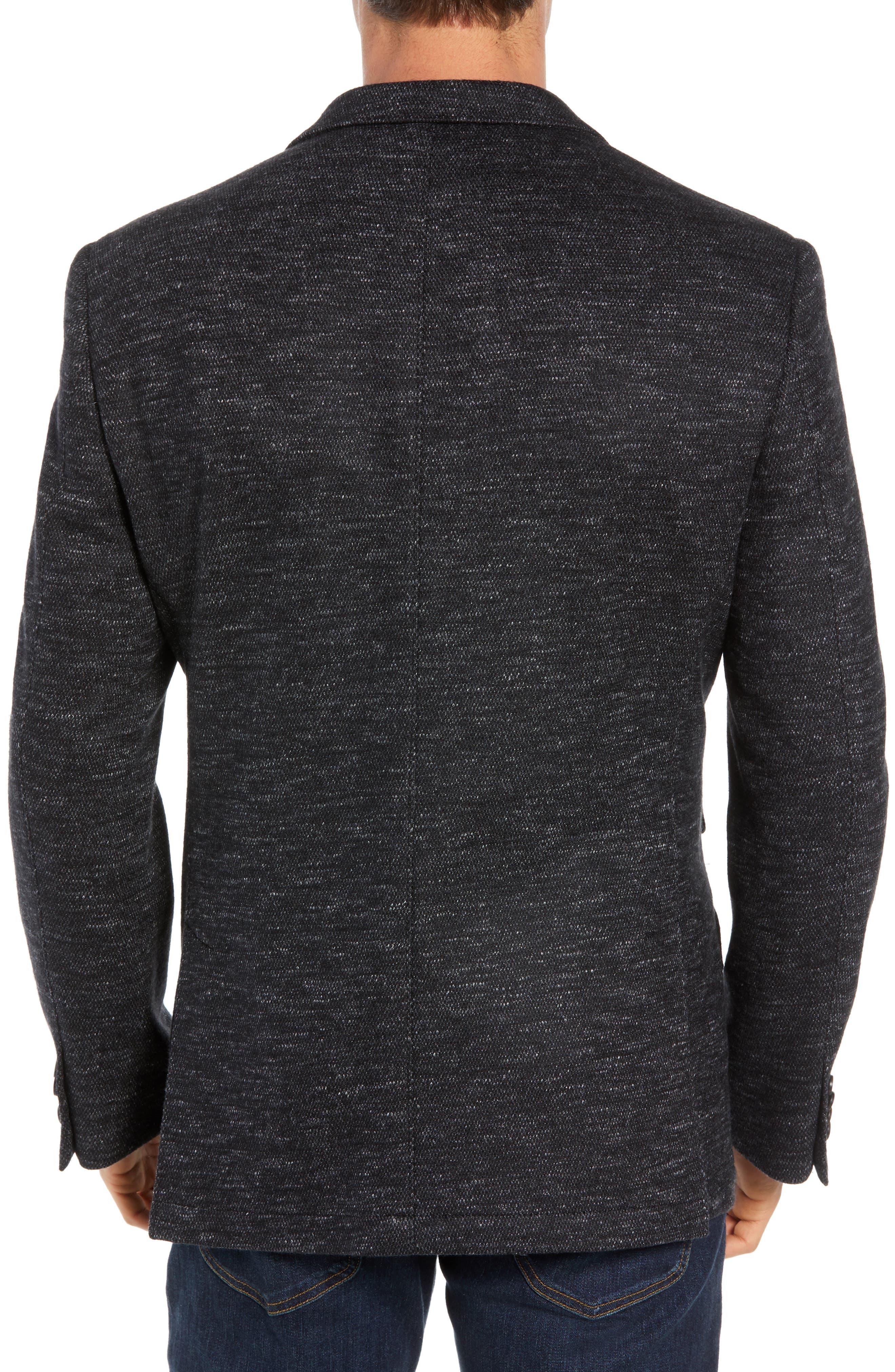 Regular Fit Knit Wool Blend Sport Coat,                             Alternate thumbnail 2, color,                             CHARCOAL