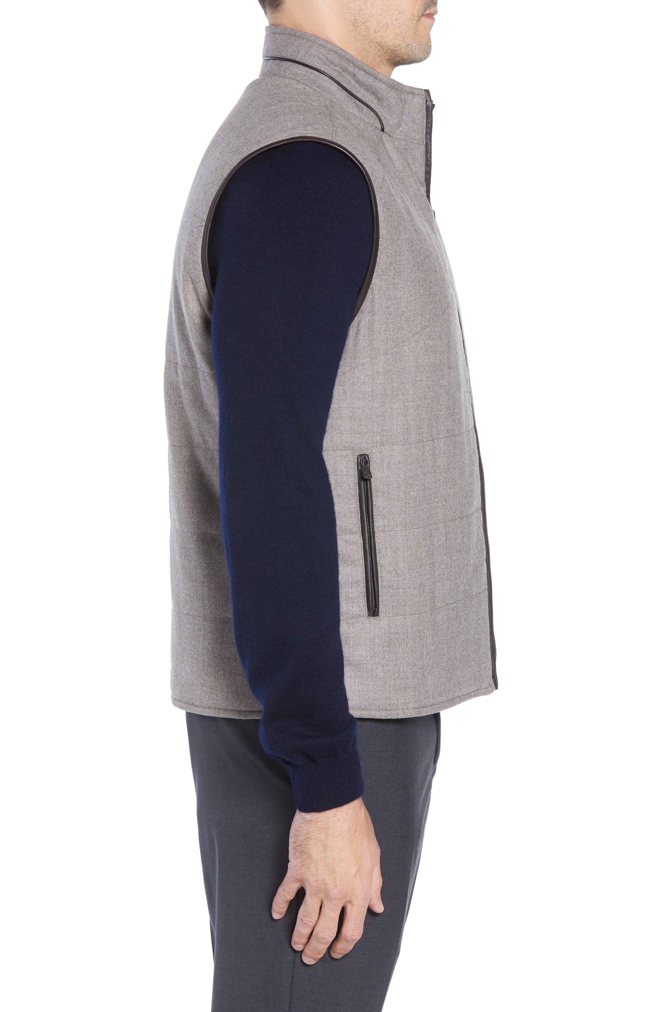 Classic Fit Reversible Vest,                             Alternate thumbnail 4, color,                             SAND